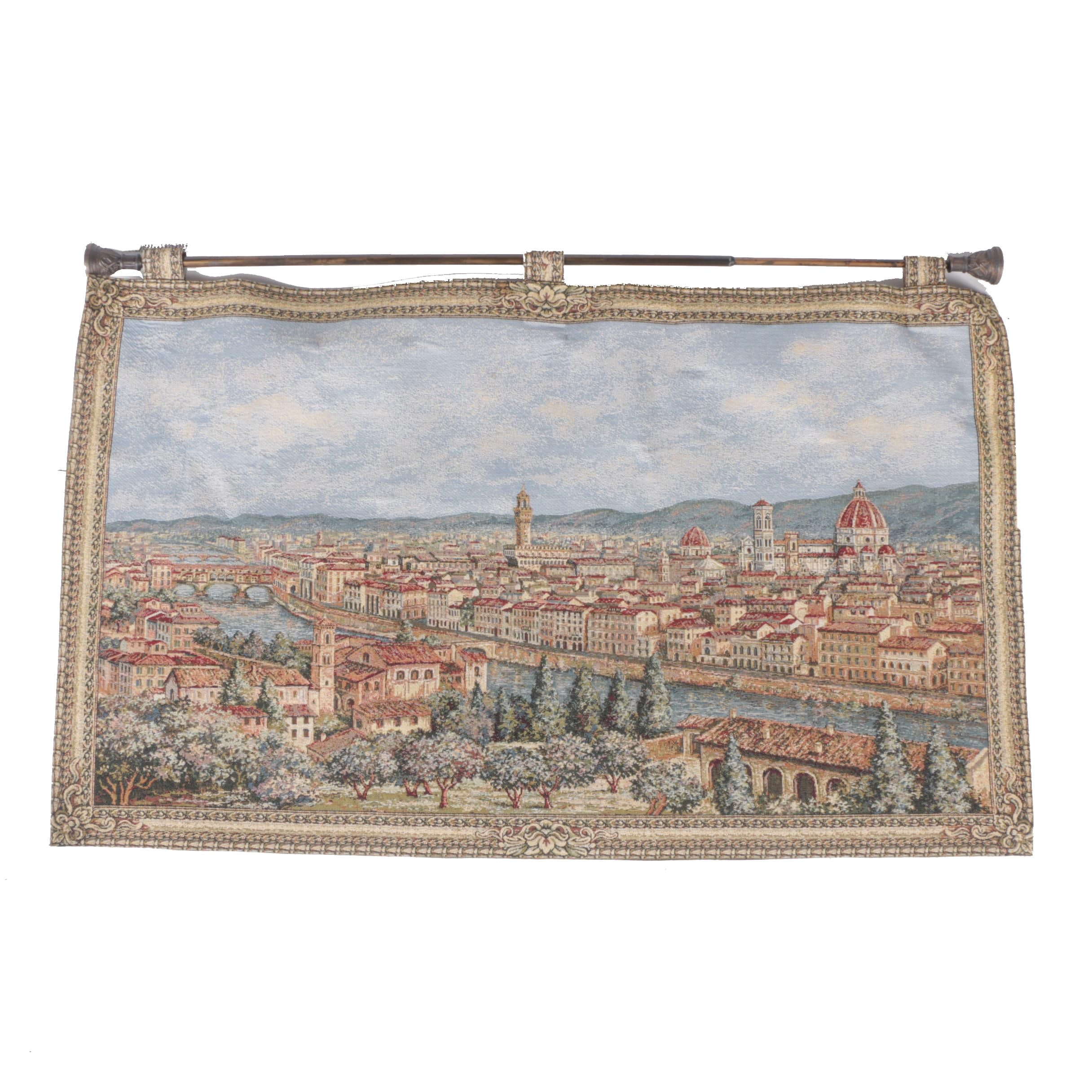 Tapestry of Florence and il Duomo with Handing Rod
