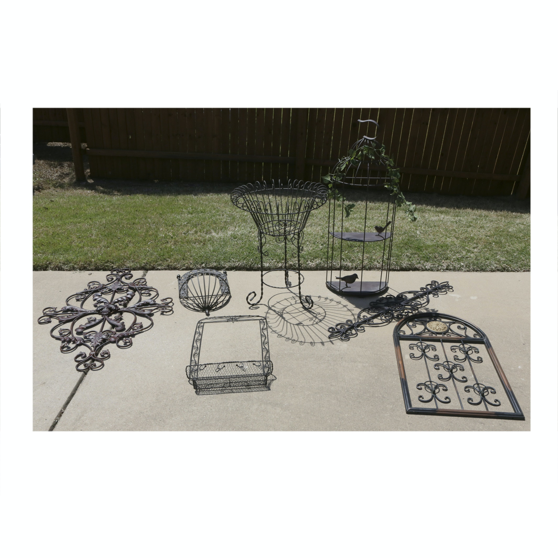 Openwork Metal Garden Decor And Planter Baskets ...