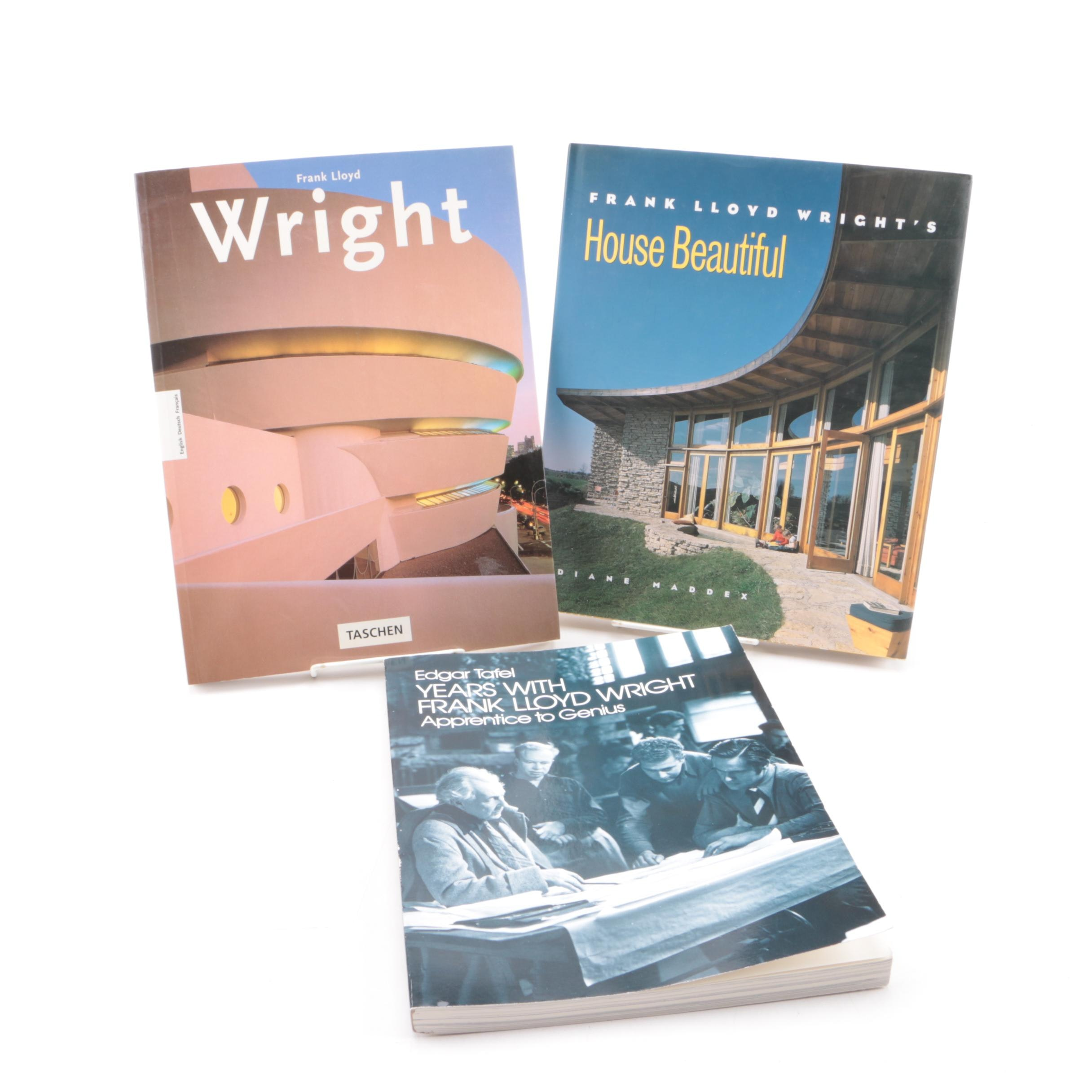 "Frank Lloyd Wright Books Including ""Years With Frank Lloyd Wright"""