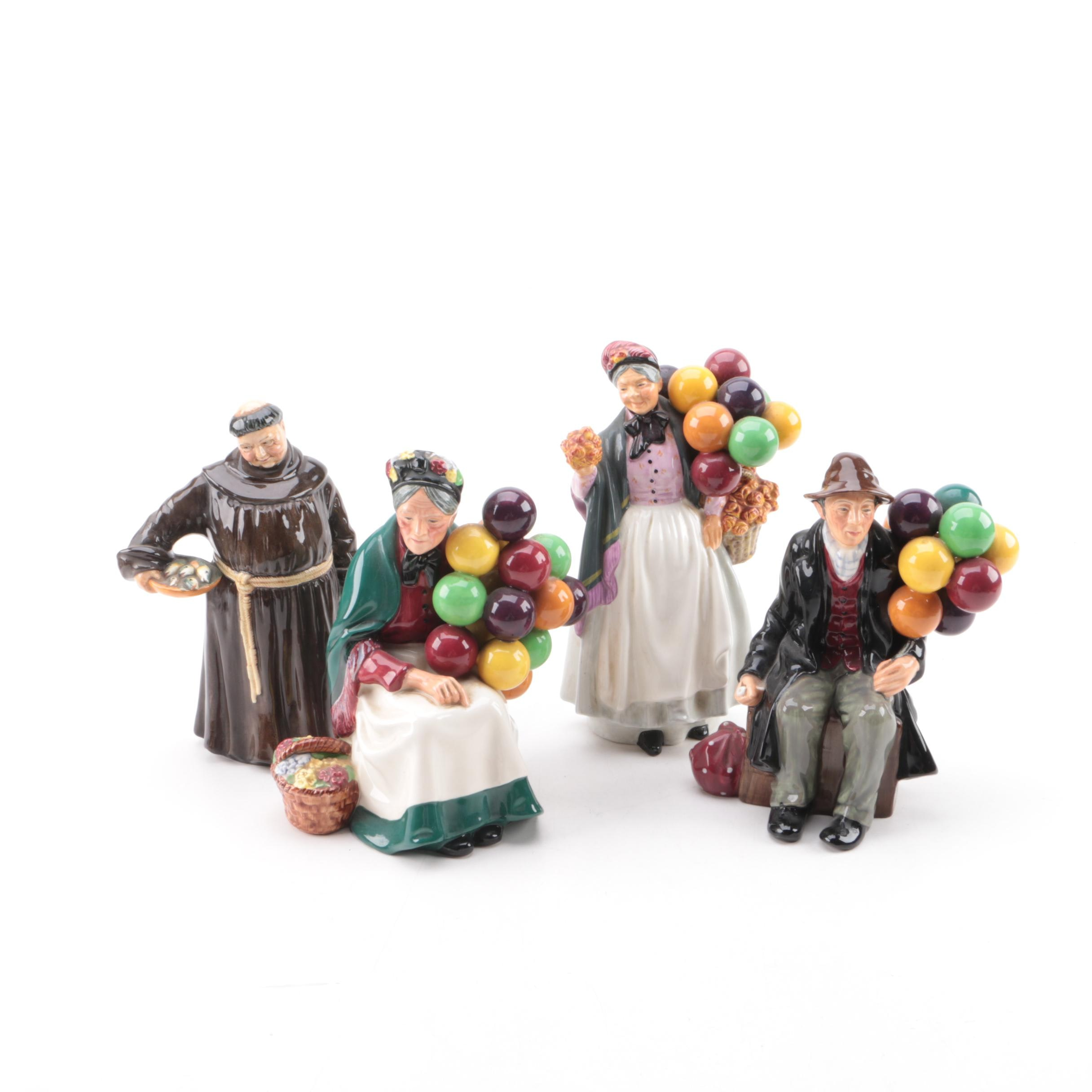 """1950s Royal Doulton Porcelain Figurines Including """"The Jovial Monk"""""""