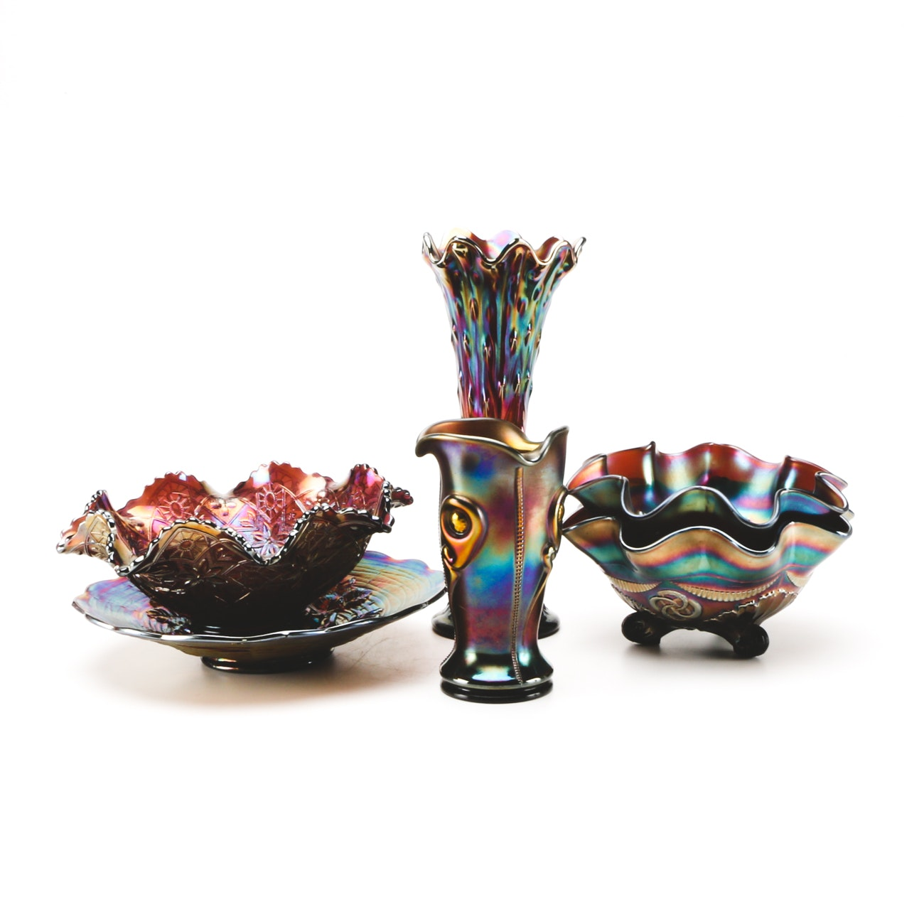 Assortment of Mid-Century Carnival Glass
