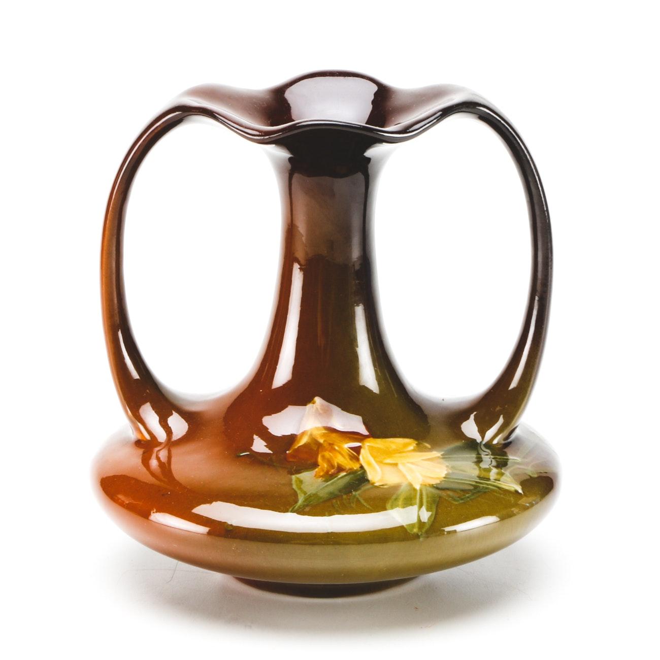 "Antique Roseville ""Rozane"" Double Handled Vase"