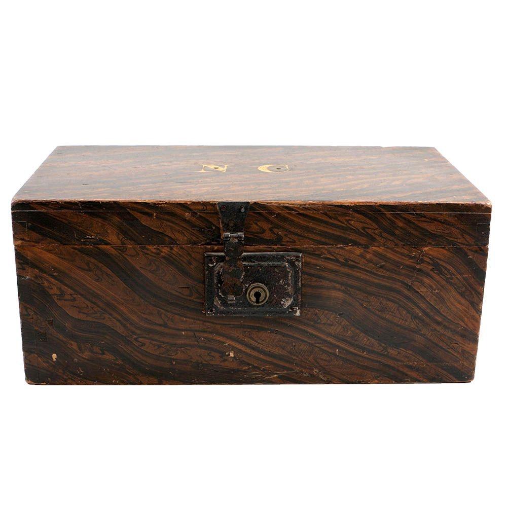 Antique Grain-Painted Pine Document Box