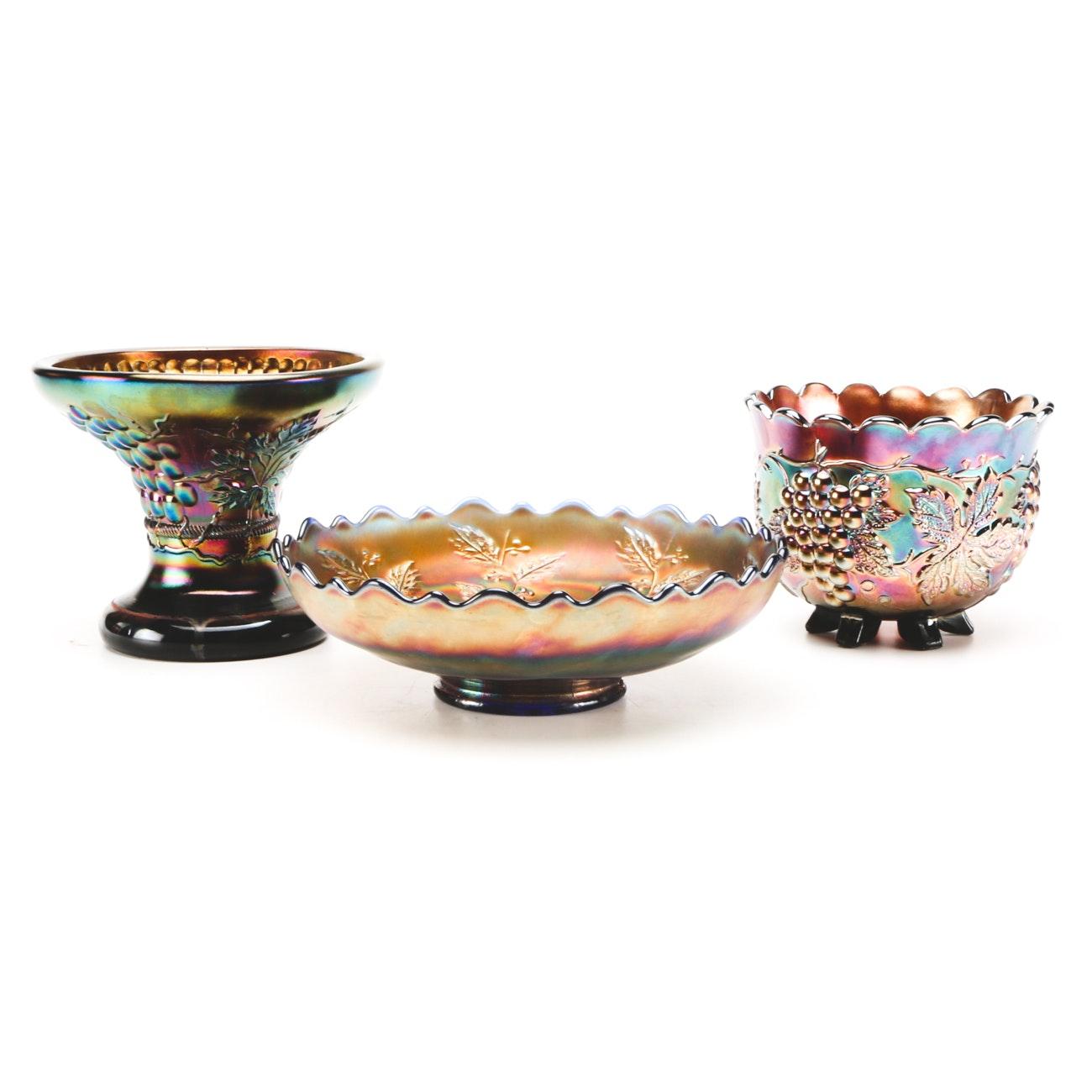 Assorted Vintage Carnival Art Glass