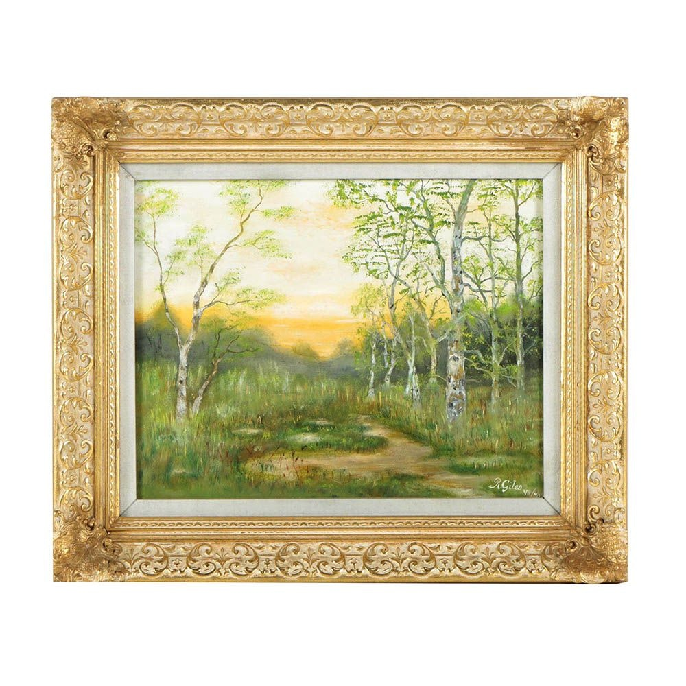R. Giles Landscape Oil Painting
