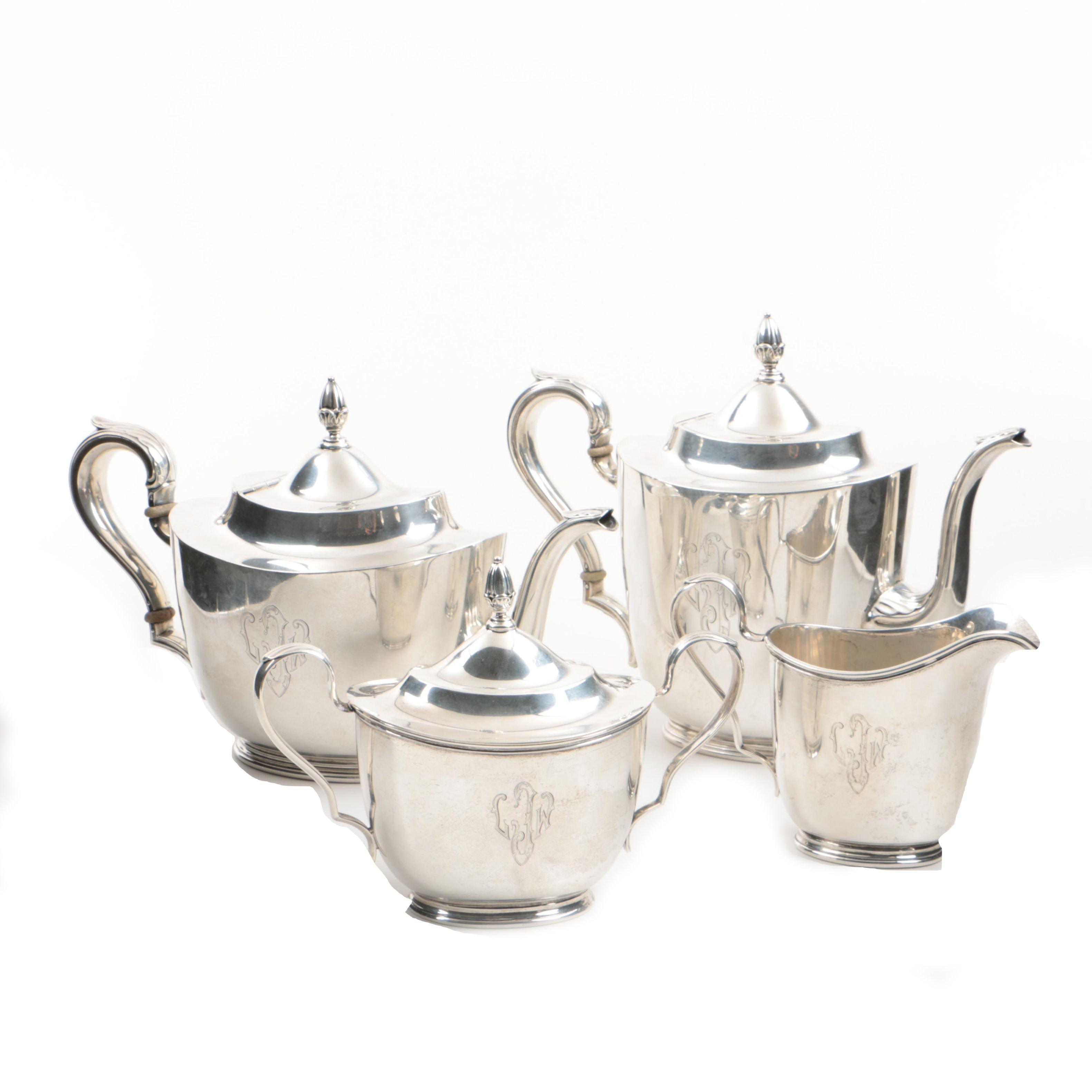 "International Sterling Silver ""Richmond"" Teapot, Coffee Pot, Sugar and Creamer"