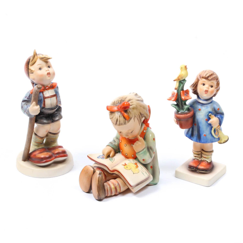 """Goebel Hummel Porcelain Figurines including """"Book Worm"""""""