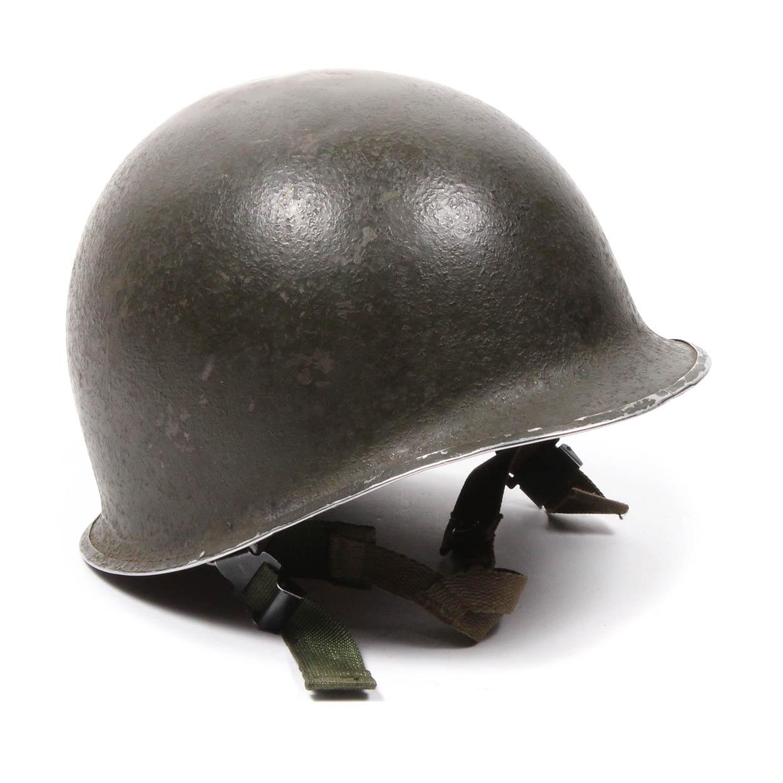 WWII M-1 Steel Helmet with Vietnam Era Liner