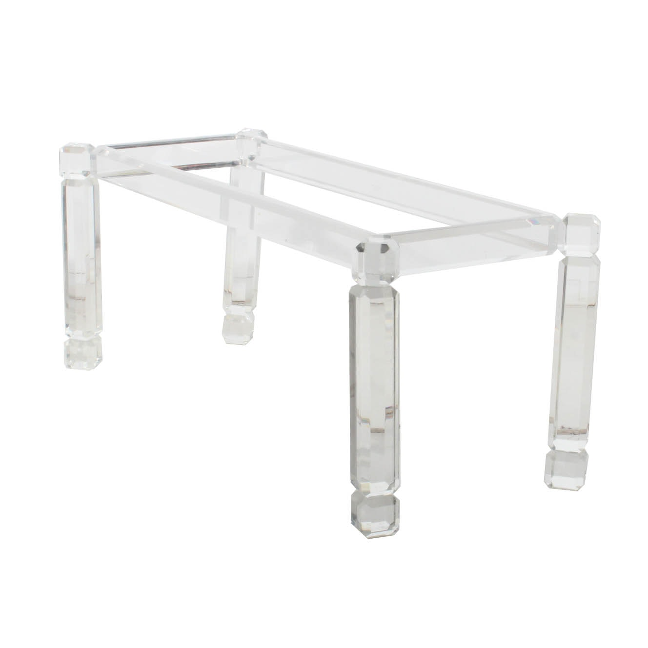Glass Top Lucite Dining Table