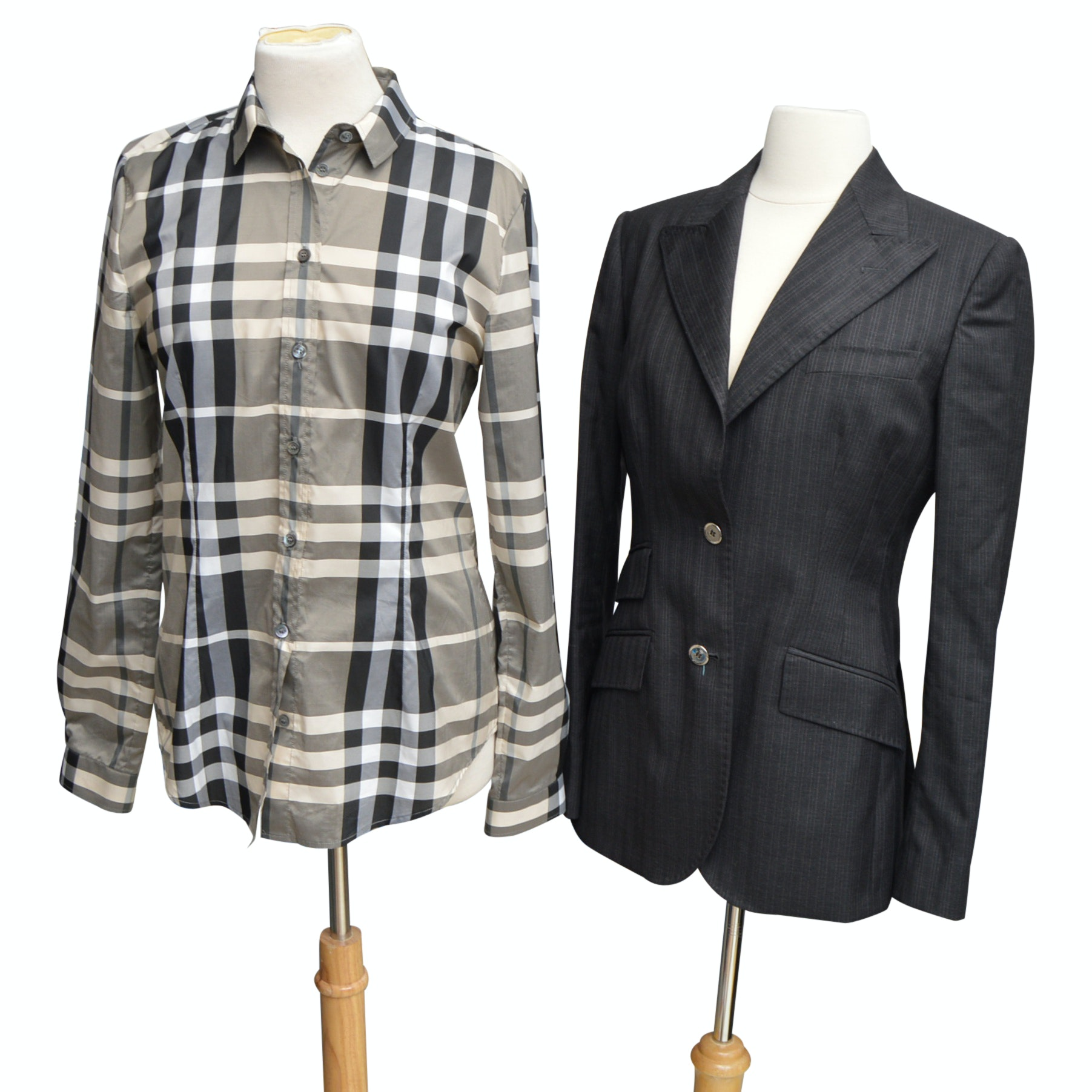 Burberry Blouse and Dolce & Gabbana Pants Suit