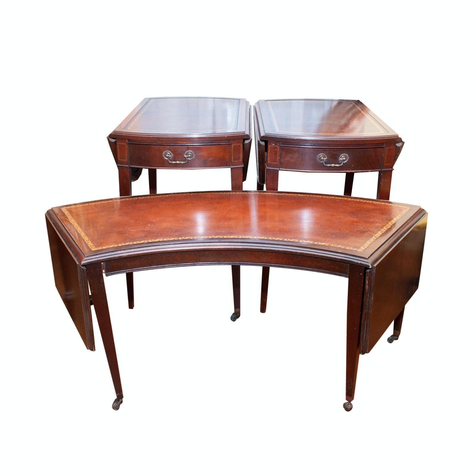 Ferguson Bros. Wrap-Around Coffee Table & Two Drop Leaf Tables