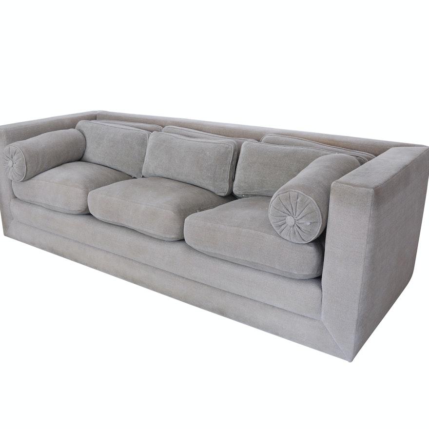 John Saladino Oatmeal Down Sofa
