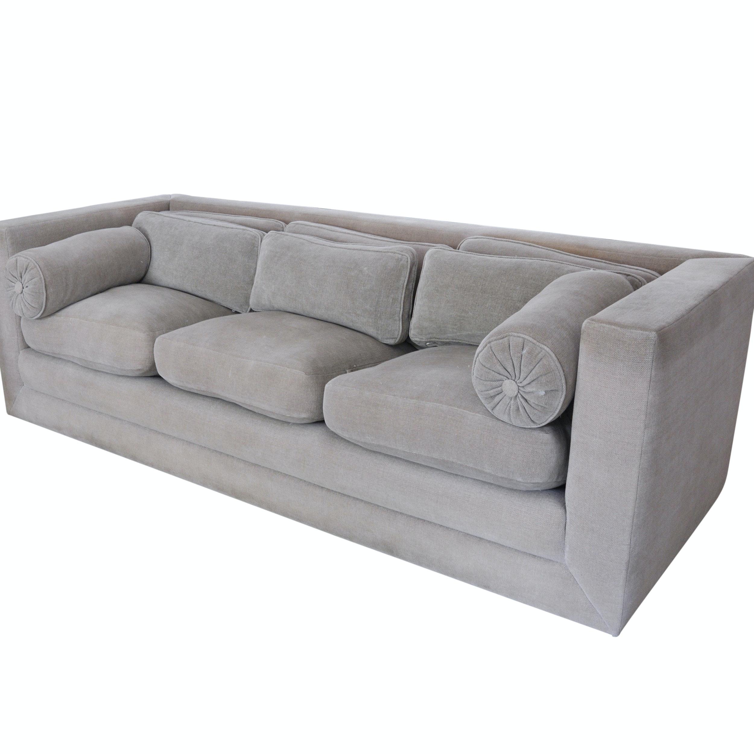 John Saladino Oatmeal Down Sofa ...