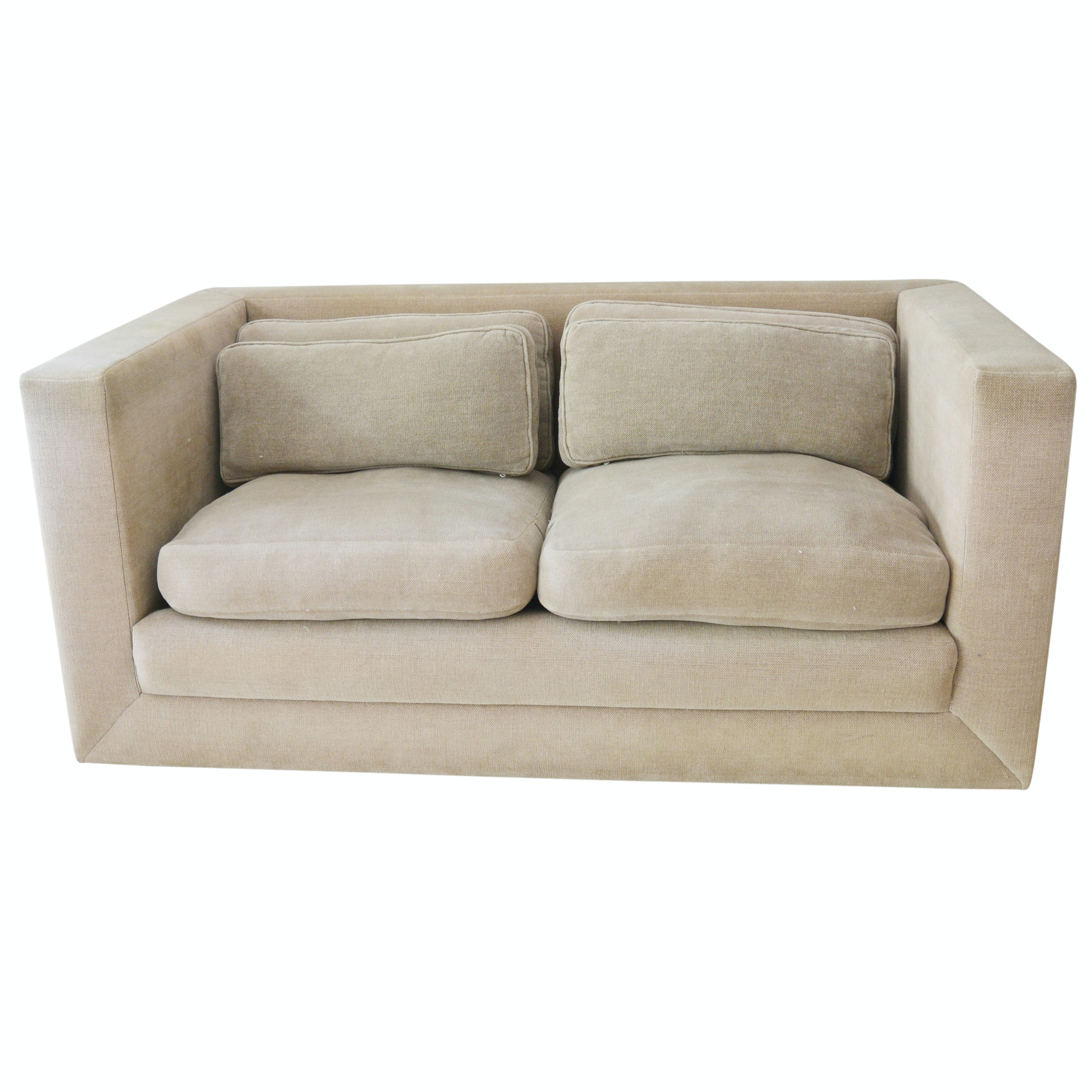 John Saladino Oatmeal Down Loveseat