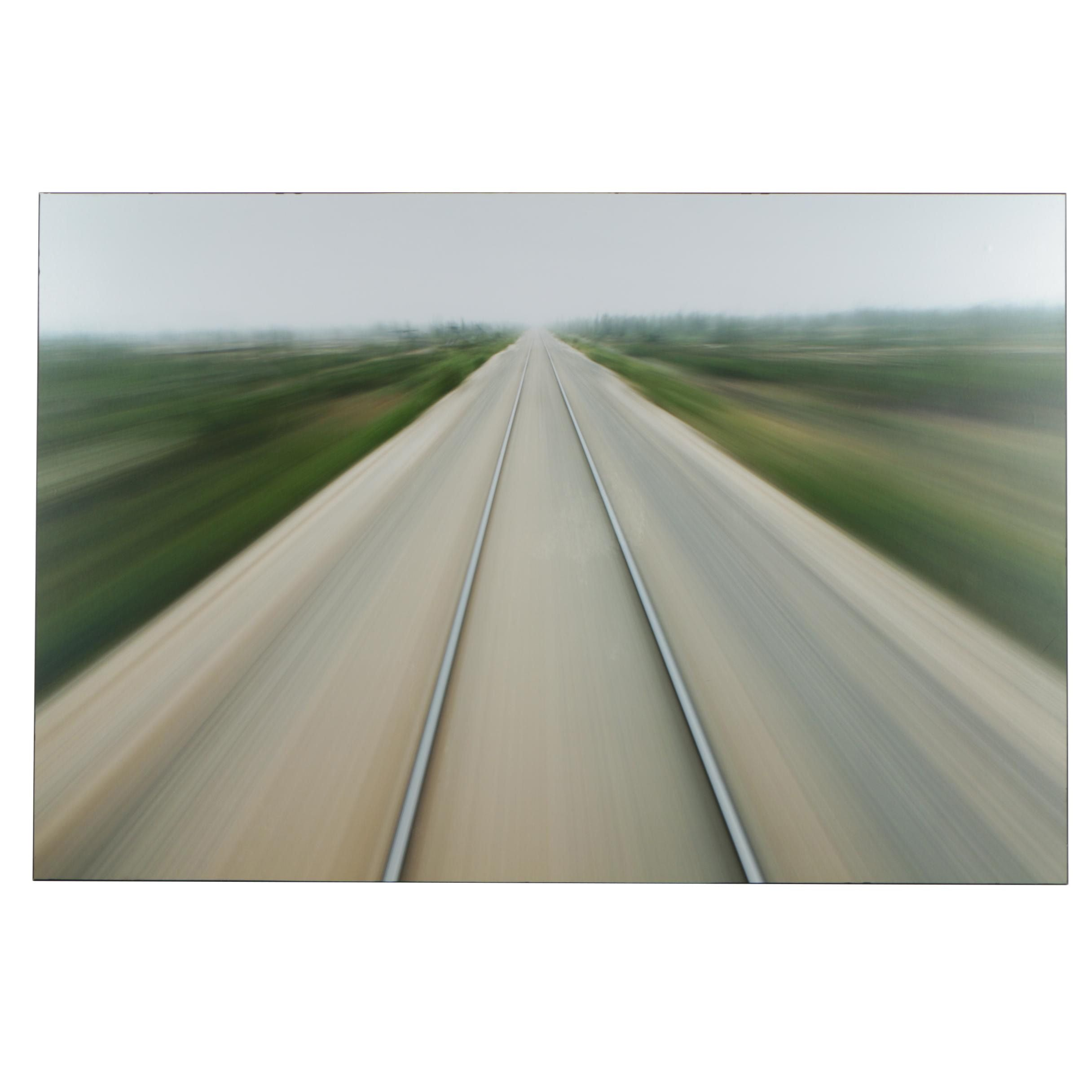 "Giclée After Paul Souders Photograph ""Railroad Tracks, Churchill, Manitoba"""