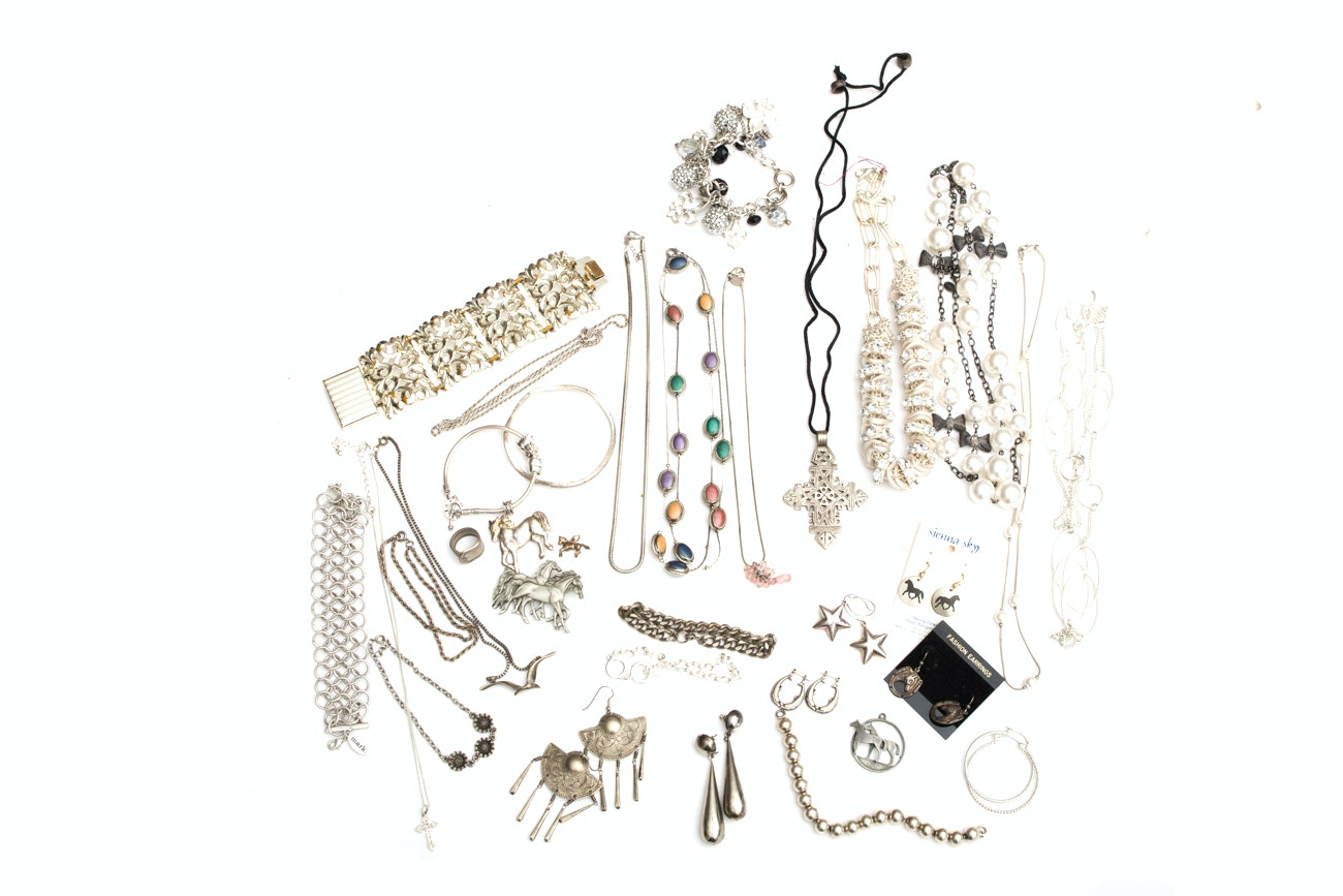 Silver Toned Costume Jewelry