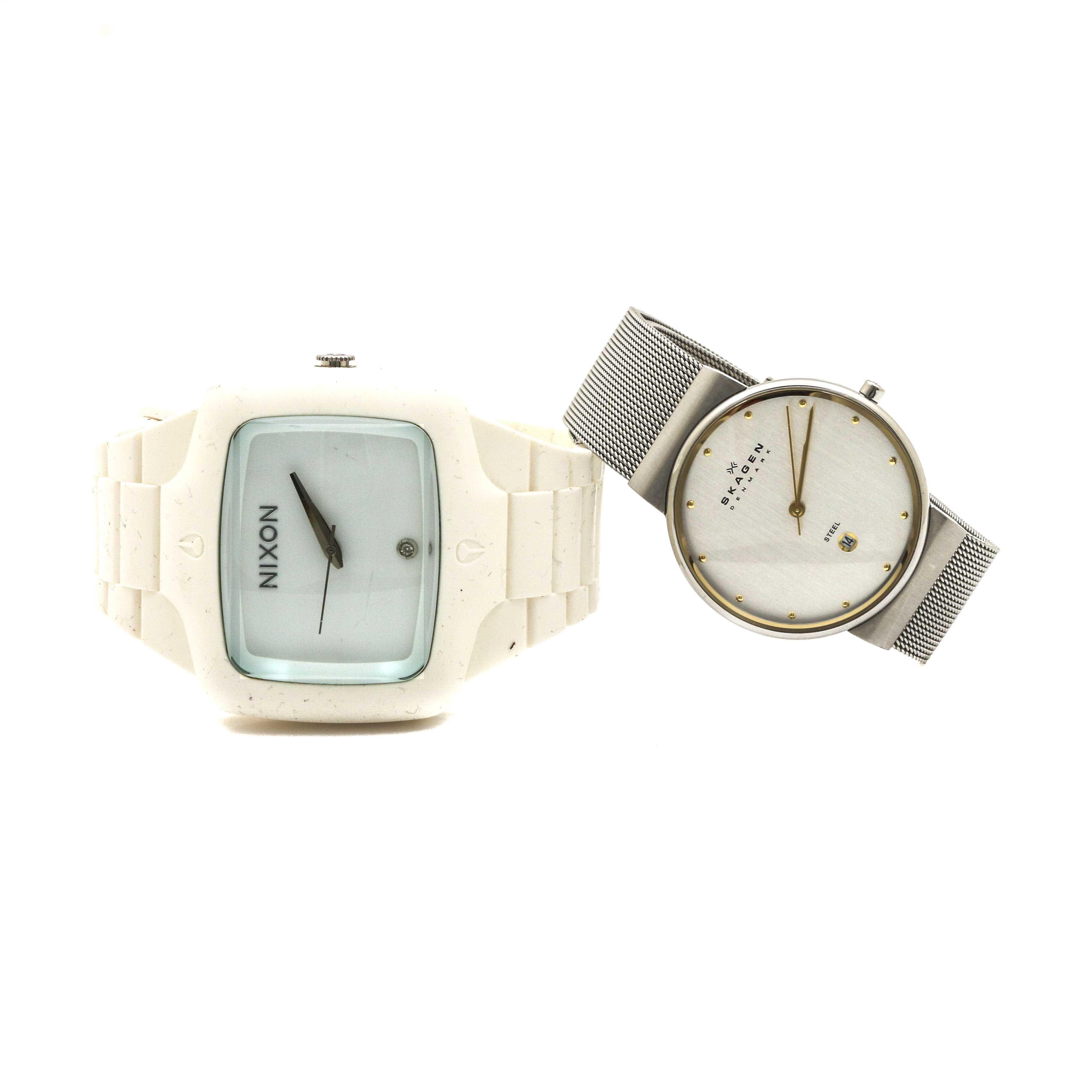 Skagen and Nixon Stainless Steel Wristwatches