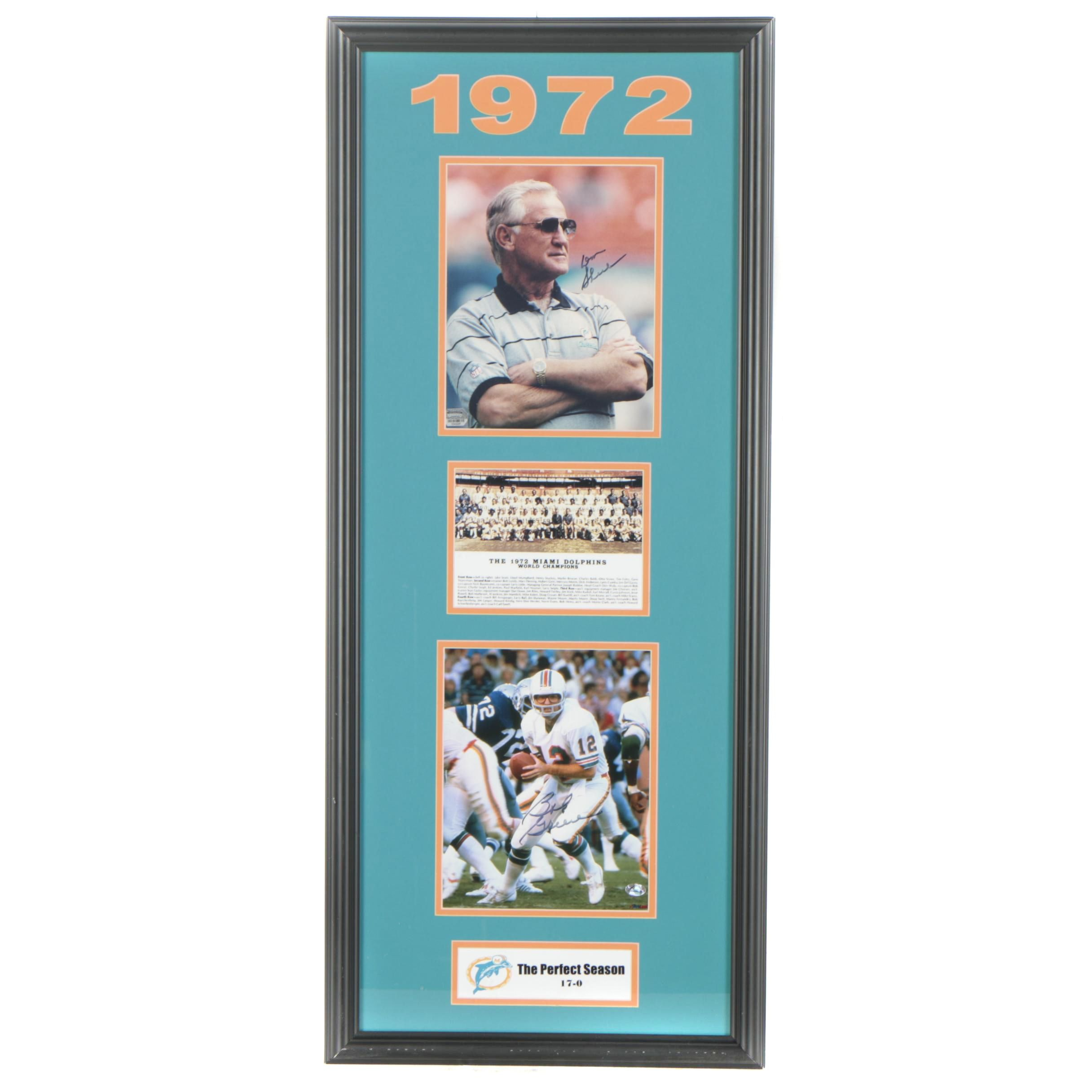 Miami Dolphins Don Shula and Bob Griese Framed Autographed Photographs