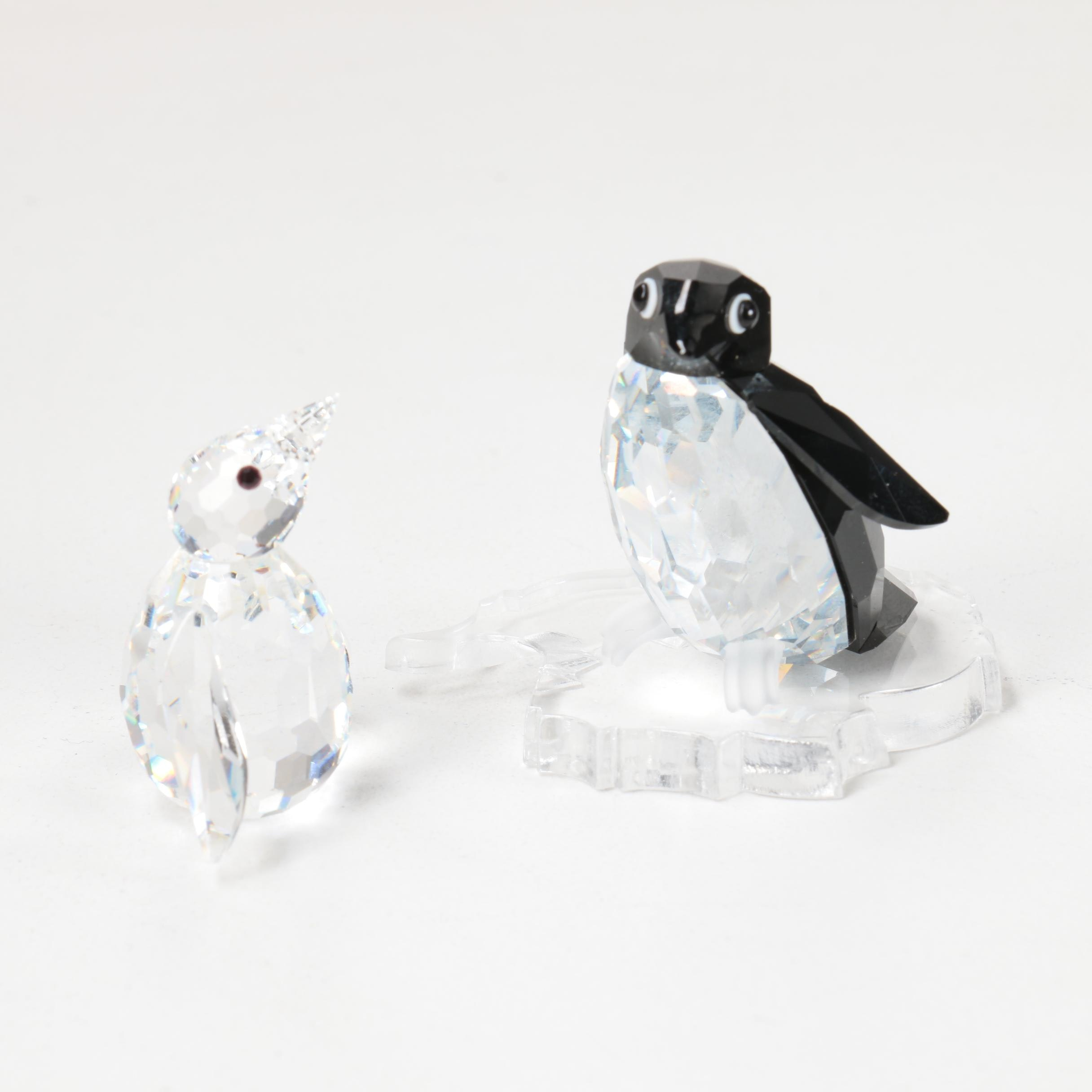 "Swarovski Crystal Penguin Figurines Including ""Sir Penguin"""