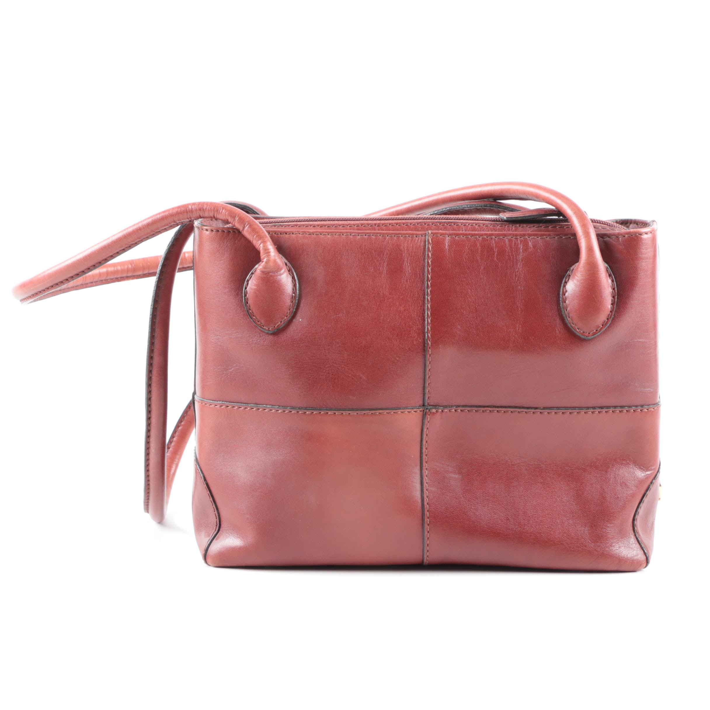 Etienne Aigner Chestnut Brown Leather Shoulder Bag
