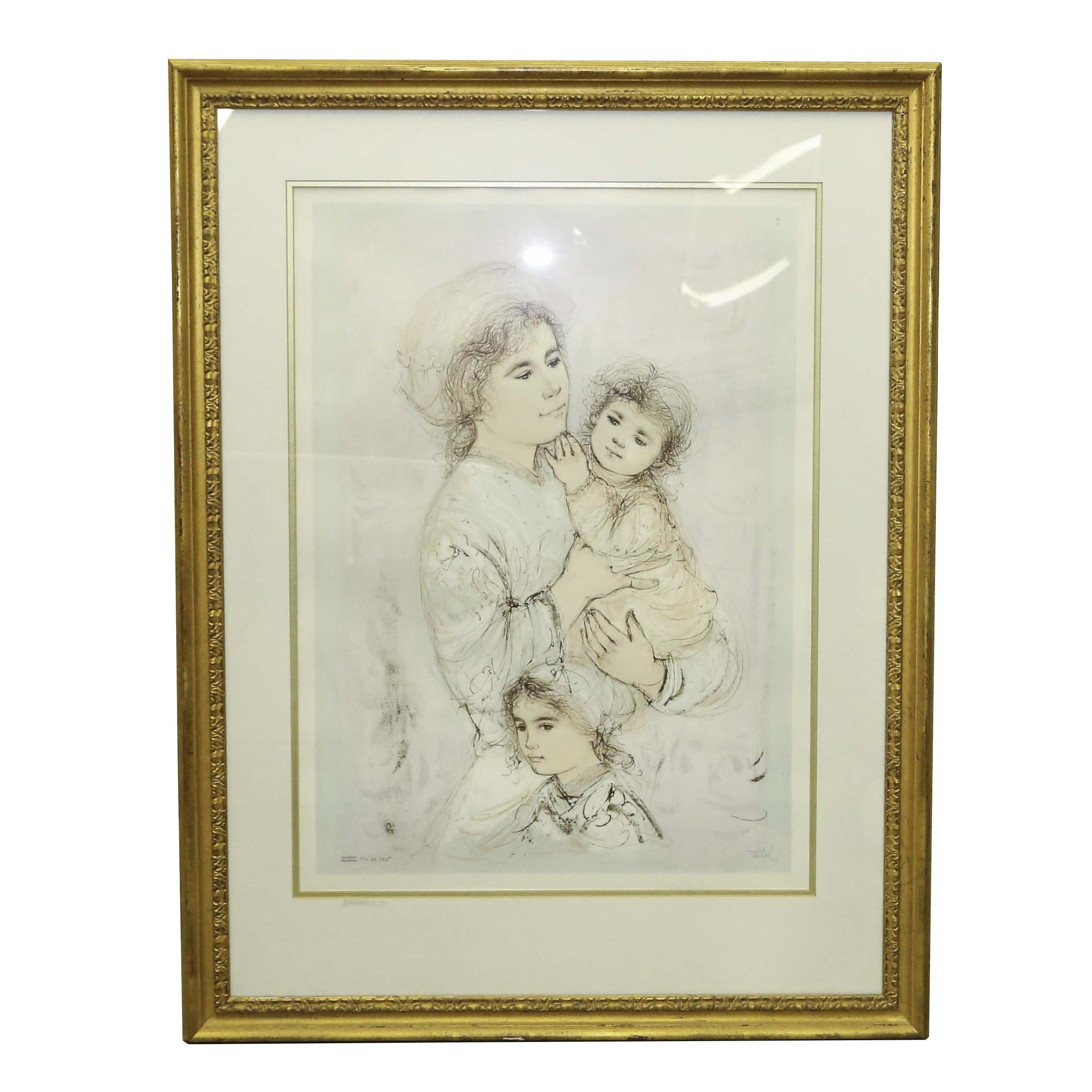 Edna Hibel Limited Edition Lithograph