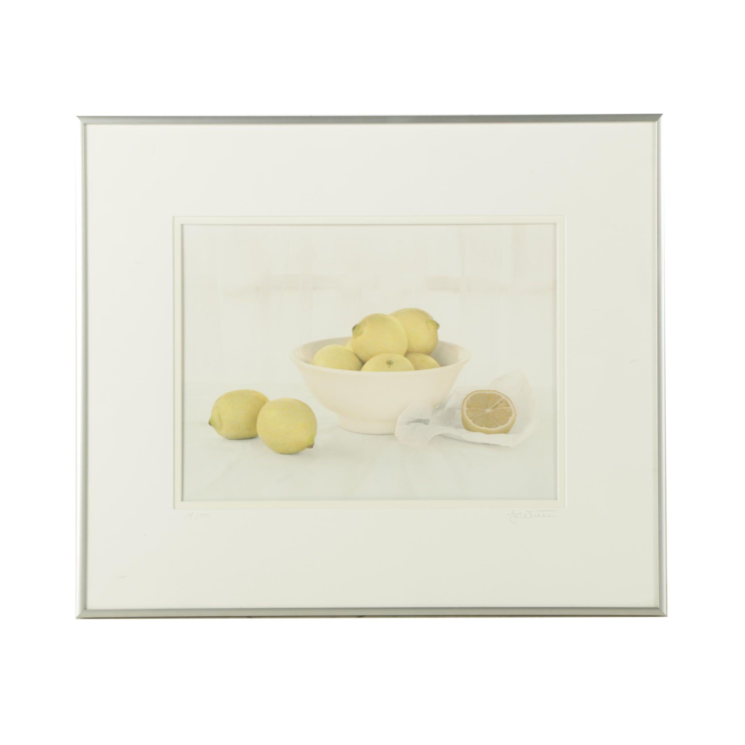 "Kevin White Limited Edition Hand-Colored Photograph ""Lemons, Hope Marie"""