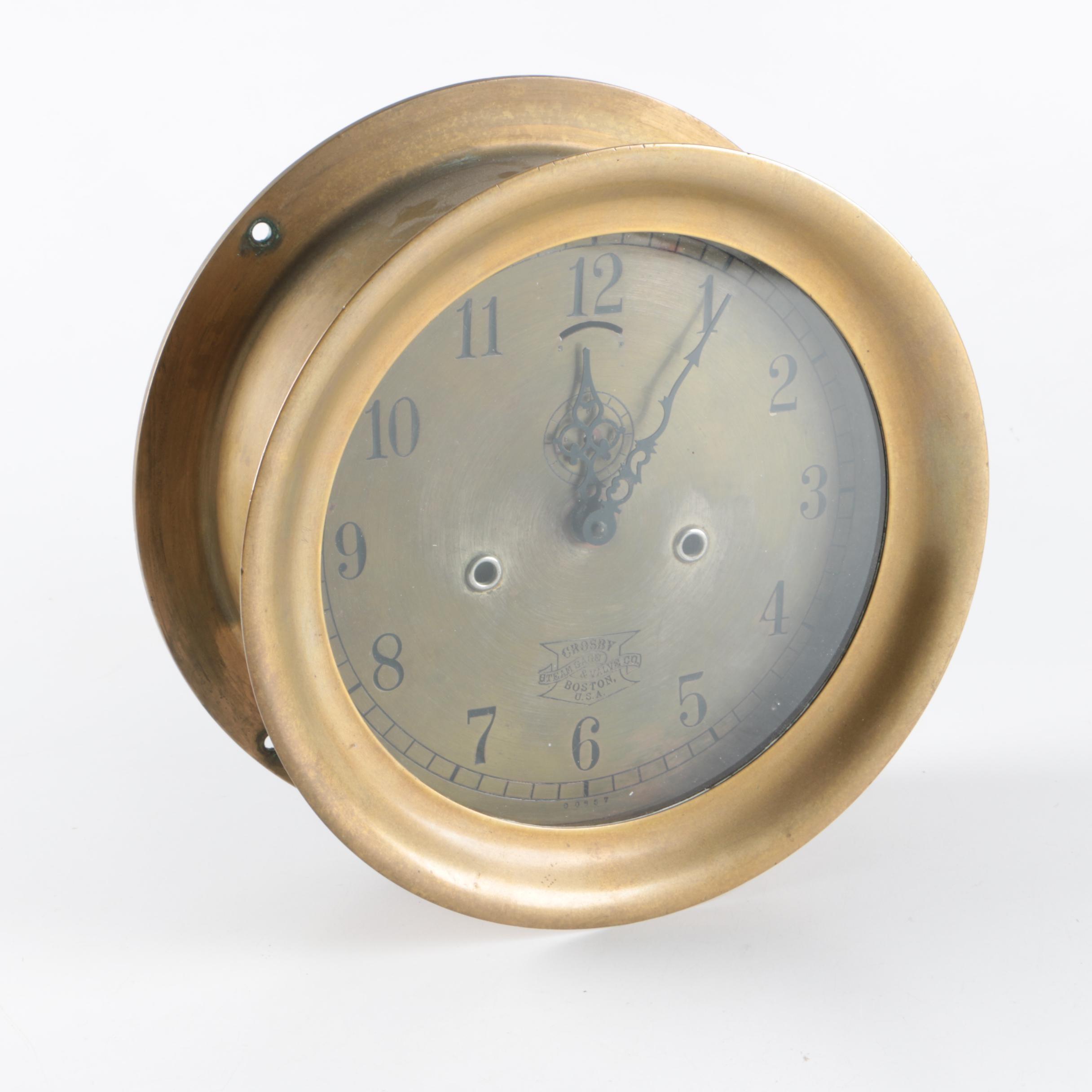 Crosby Steam Gauge & Valve Co. Wall Clock