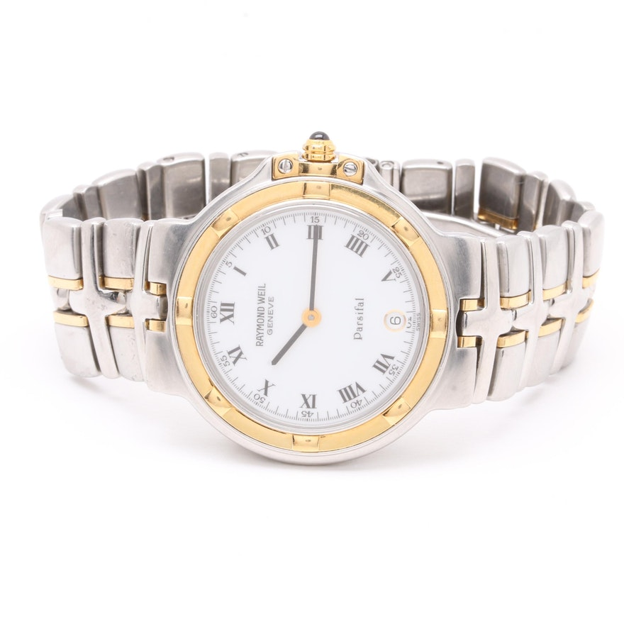 96282ac0252e Raymond Weil Stainless Steel and 18K Yellow Gold Wristwatch   EBTH