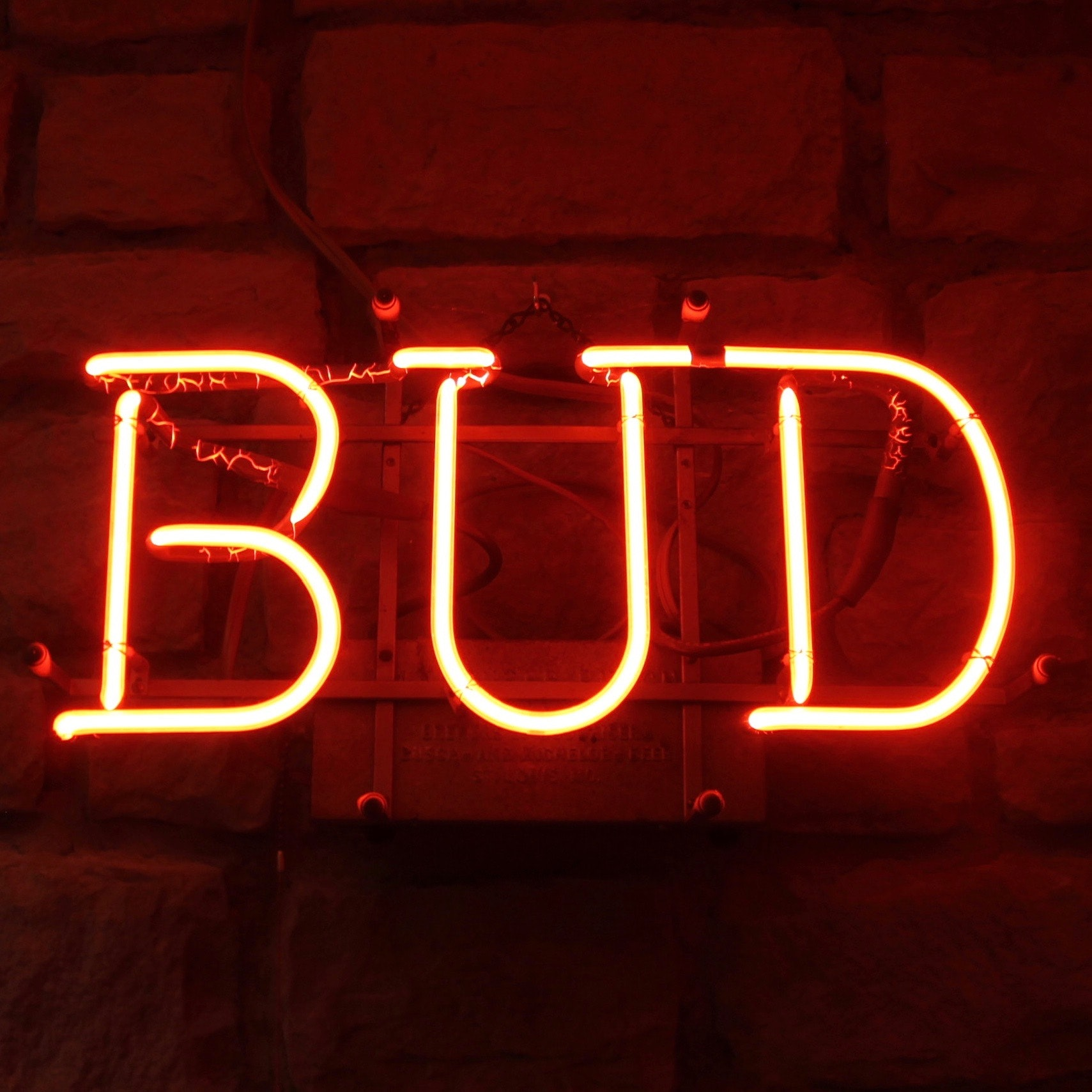 Neon Lighted Bud Wall Sign