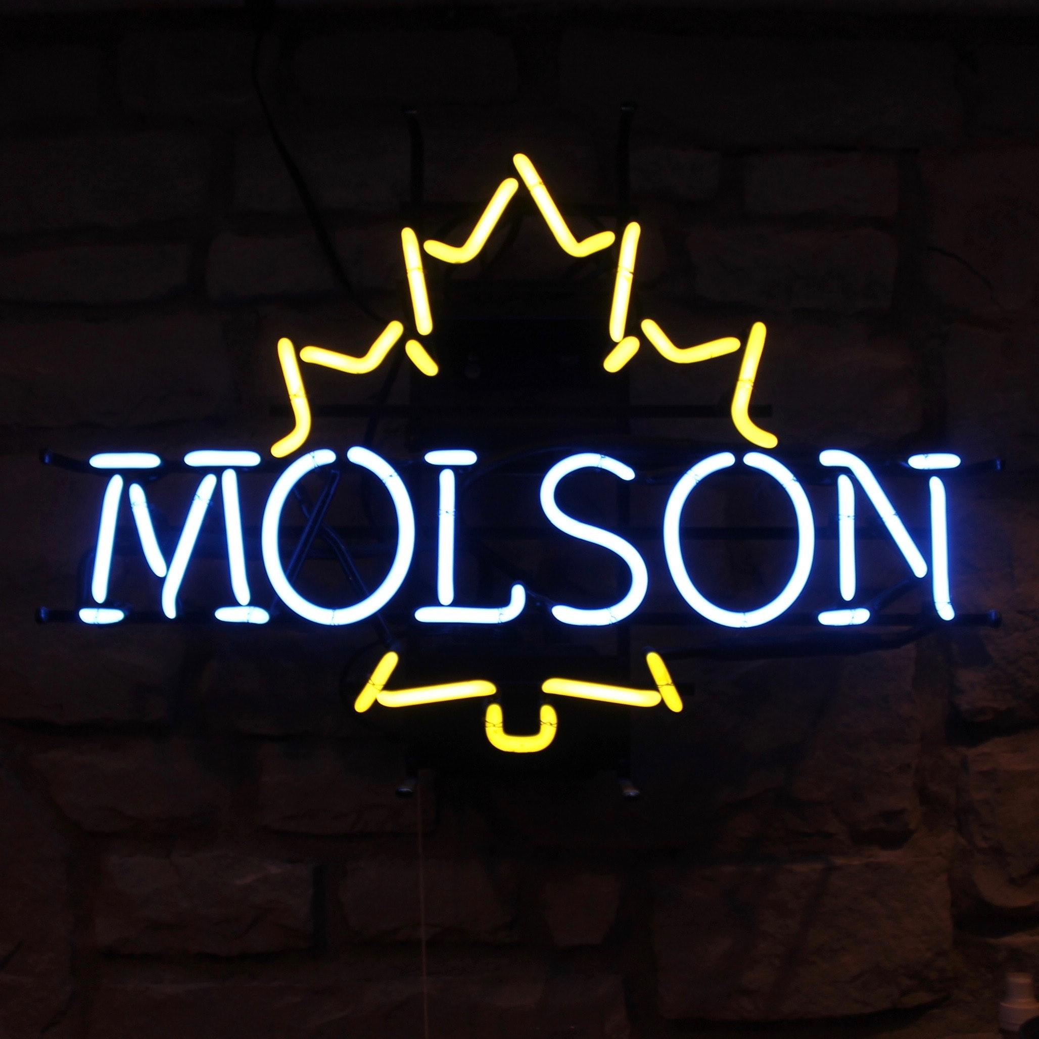 Molson Neon Lighted Sign