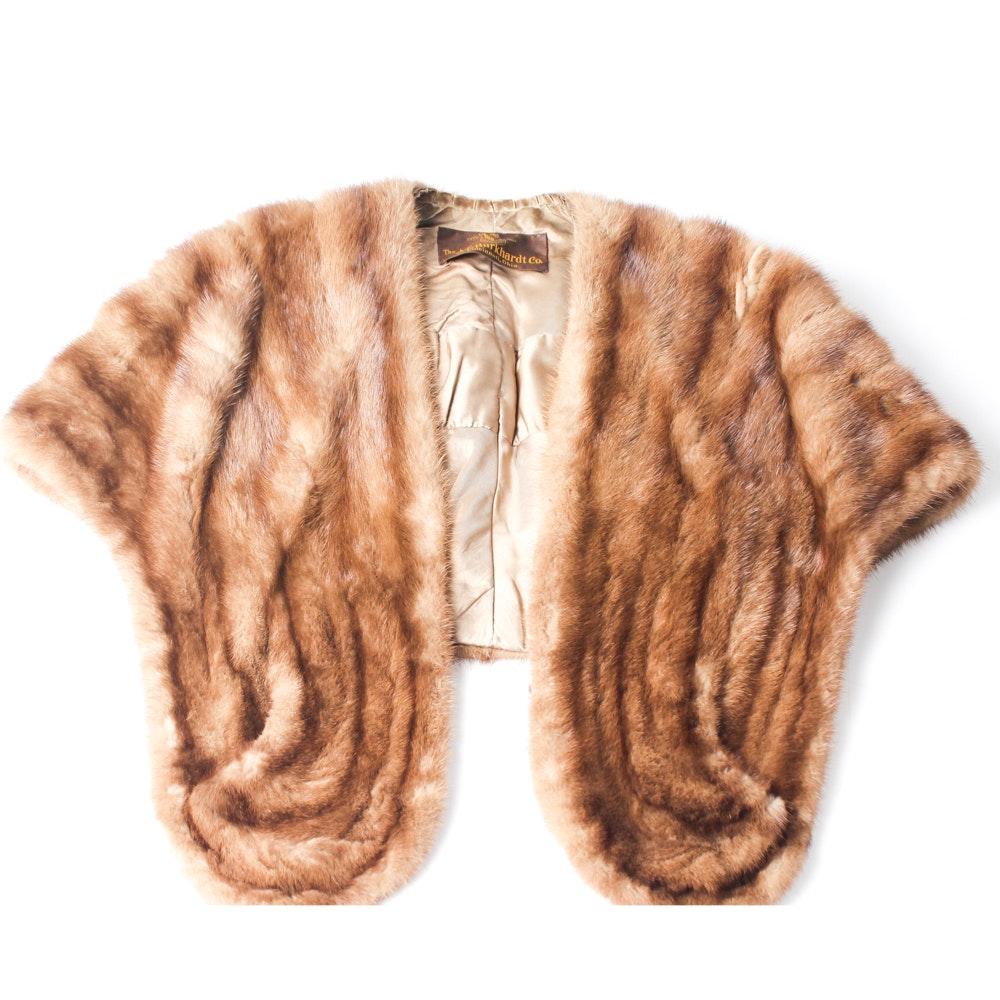 Vintage A.E. Burkhardt Mink Fur Stole