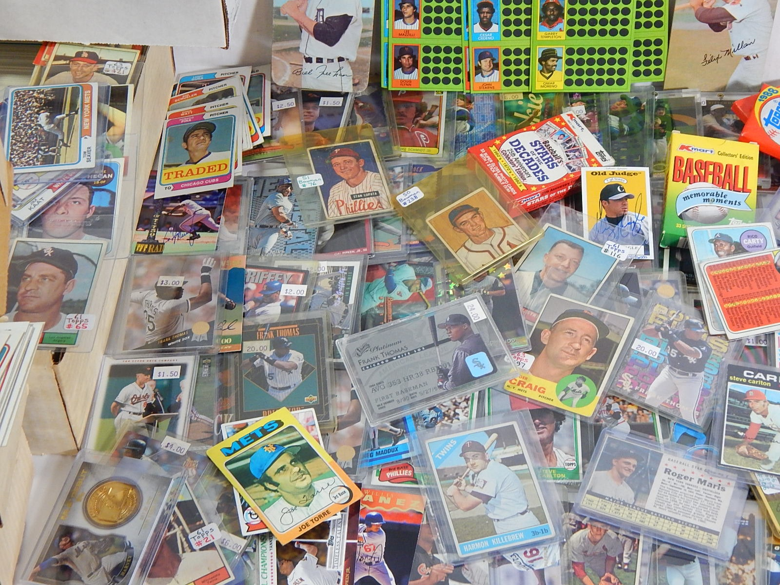 Tub of Baseball Cards from Mostly 1980s, with Some 1960s and 1970s - Around 5000