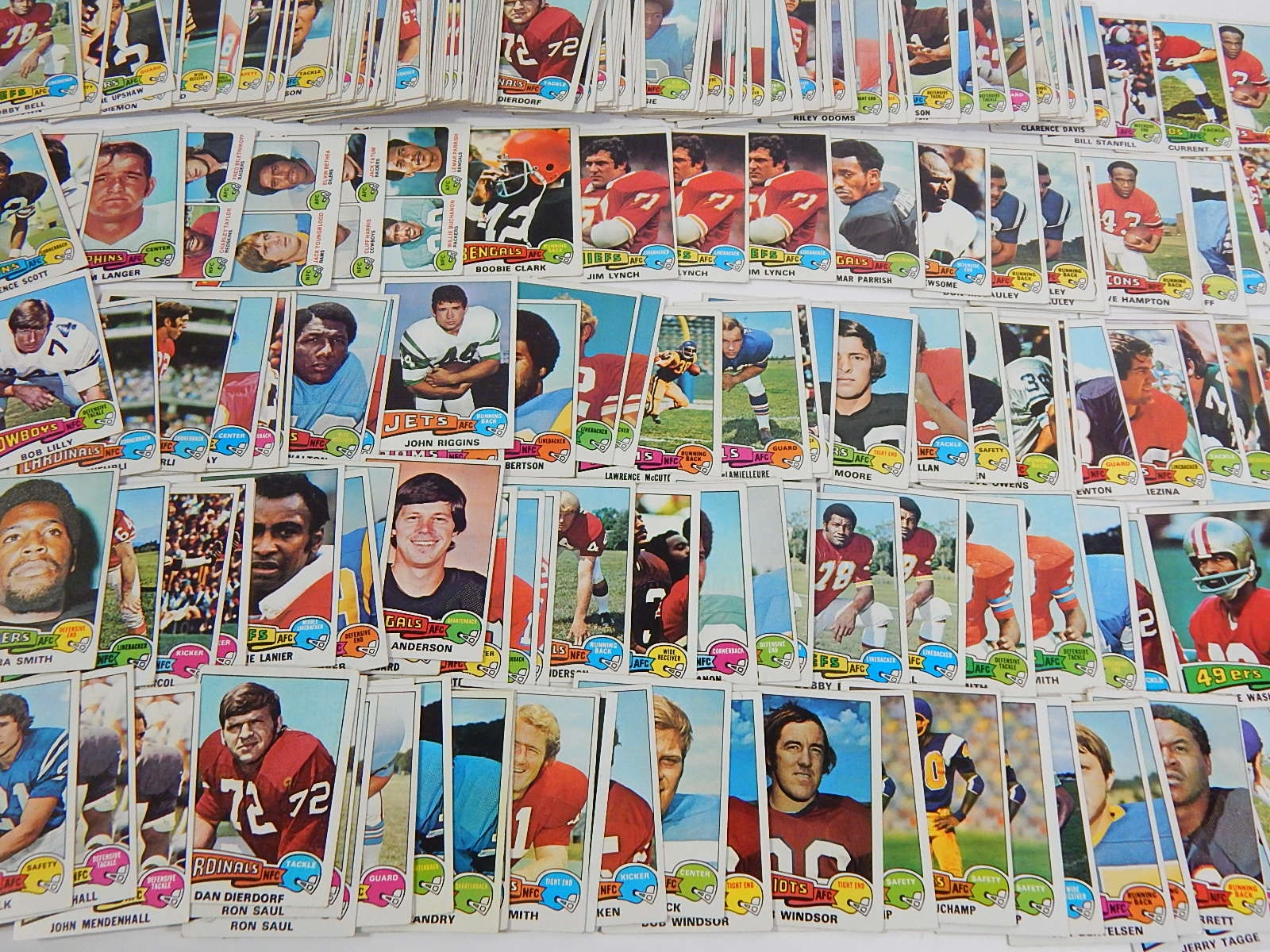 Collection of 1974 Topps Football Cards - Over 200 Card Count
