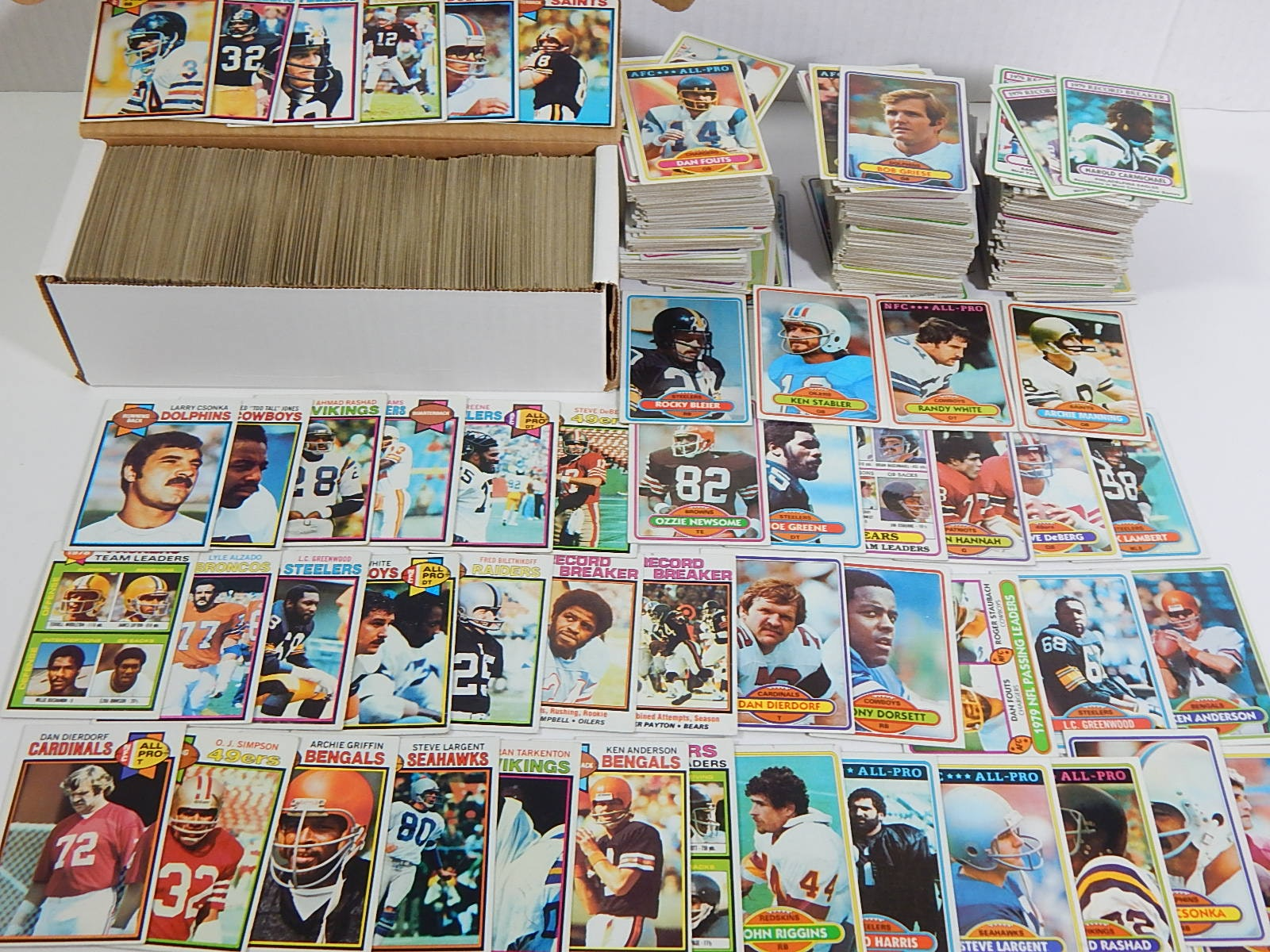 1979 to 1980 Topps Football Sets or Partial Sets - Around 1000 Card Count