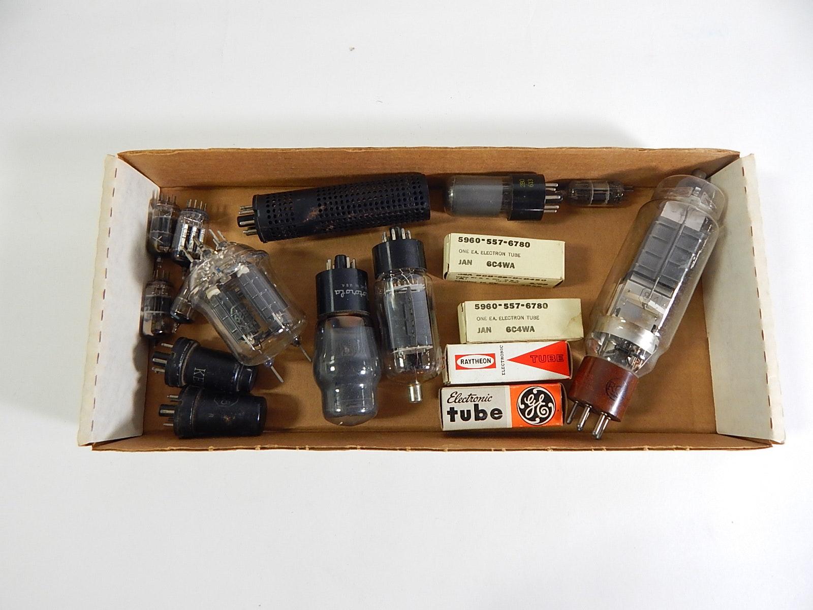 Box of Vintage Radio Tubes