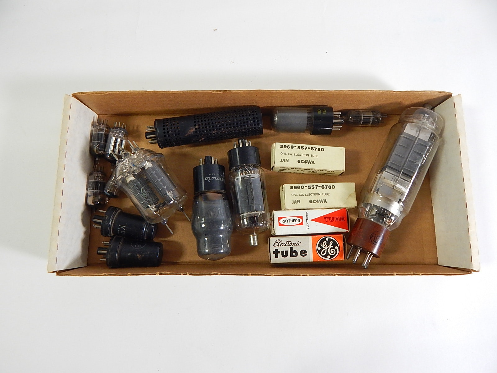 Box of Vintage Radio Tubes