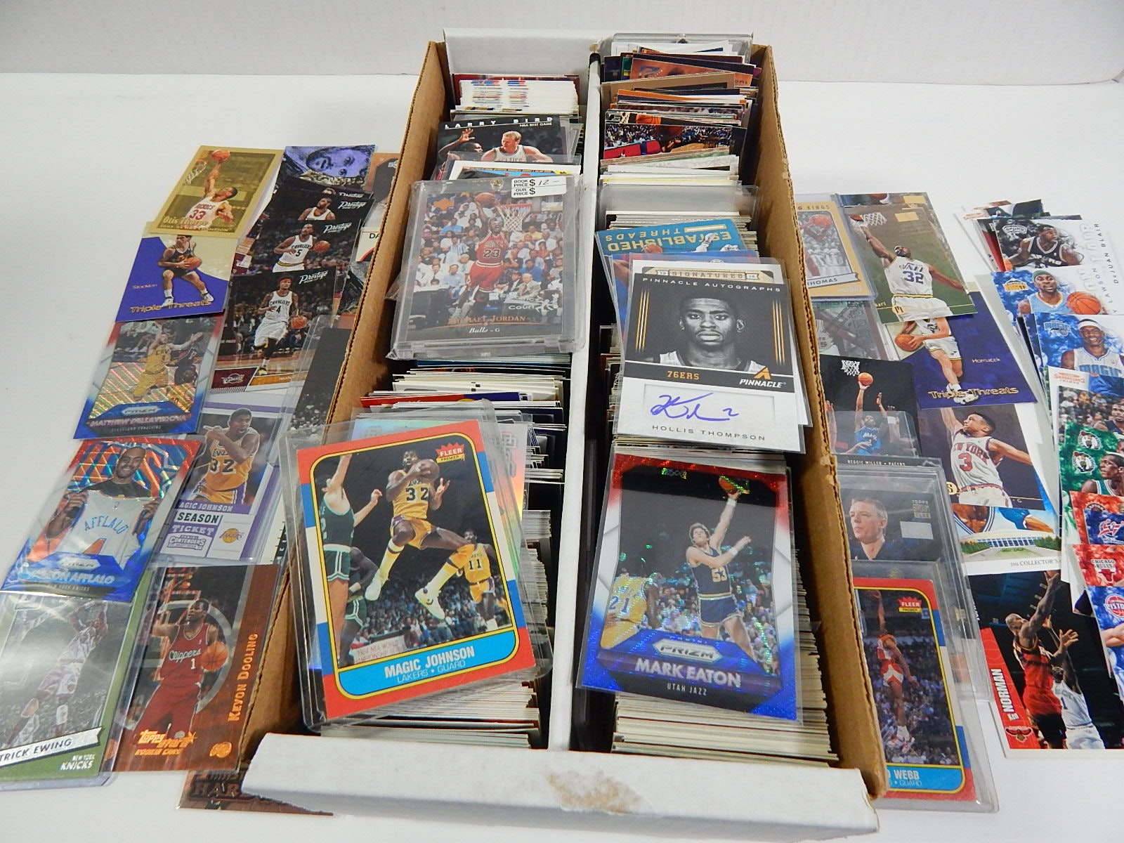 Box of Basketball Cards - Over 1500 Card Count - With Jordan, Ewing, Johnson