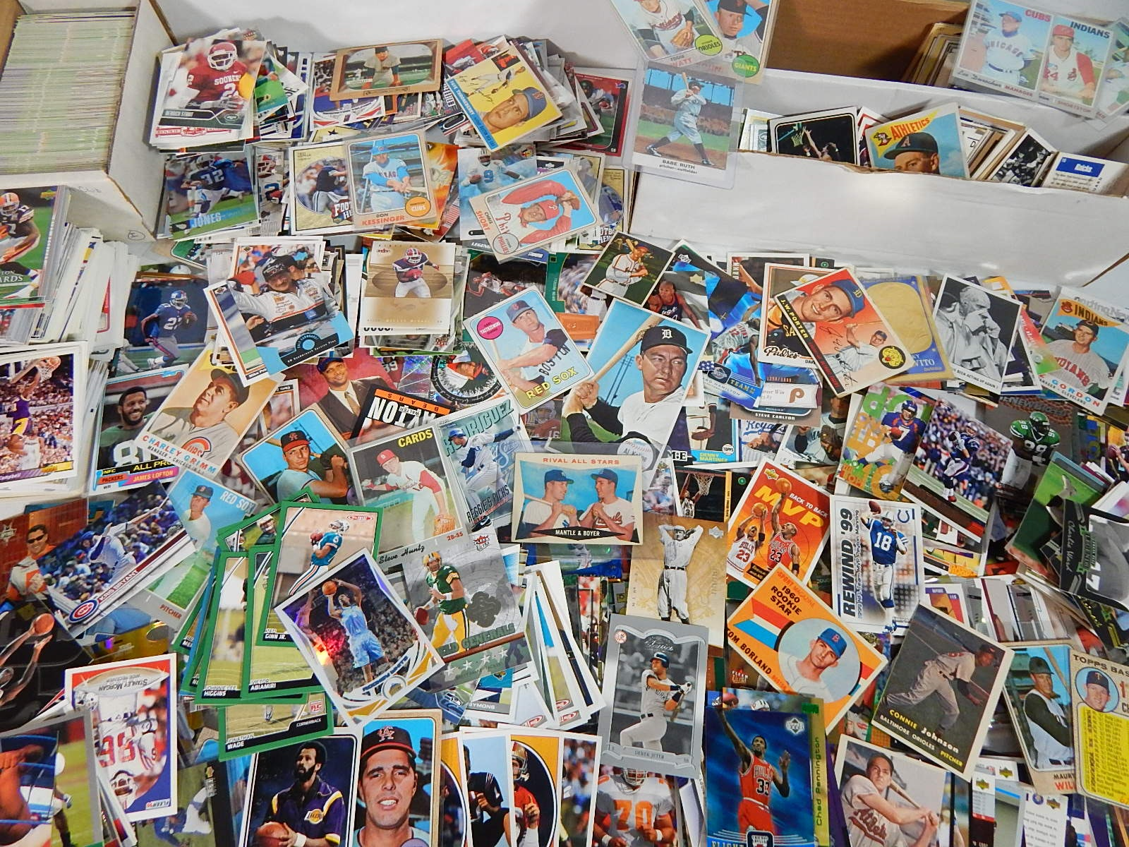 Large Sports Card Collection from 1950s through 2000s