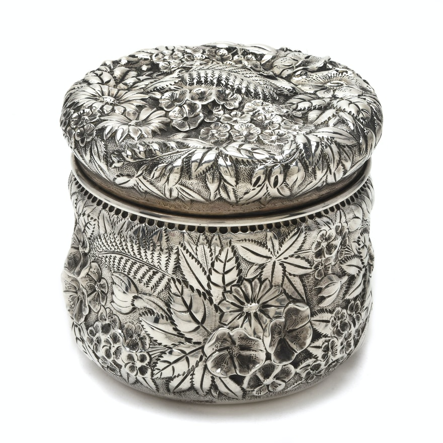 S. Kirk & Son Sterling Silver Repoussé Powder Box
