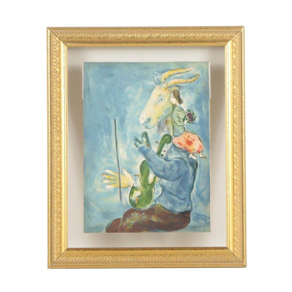 "Marc Chagall 1938 ""Verve"" Magazine Lithograph ""Printemps"""
