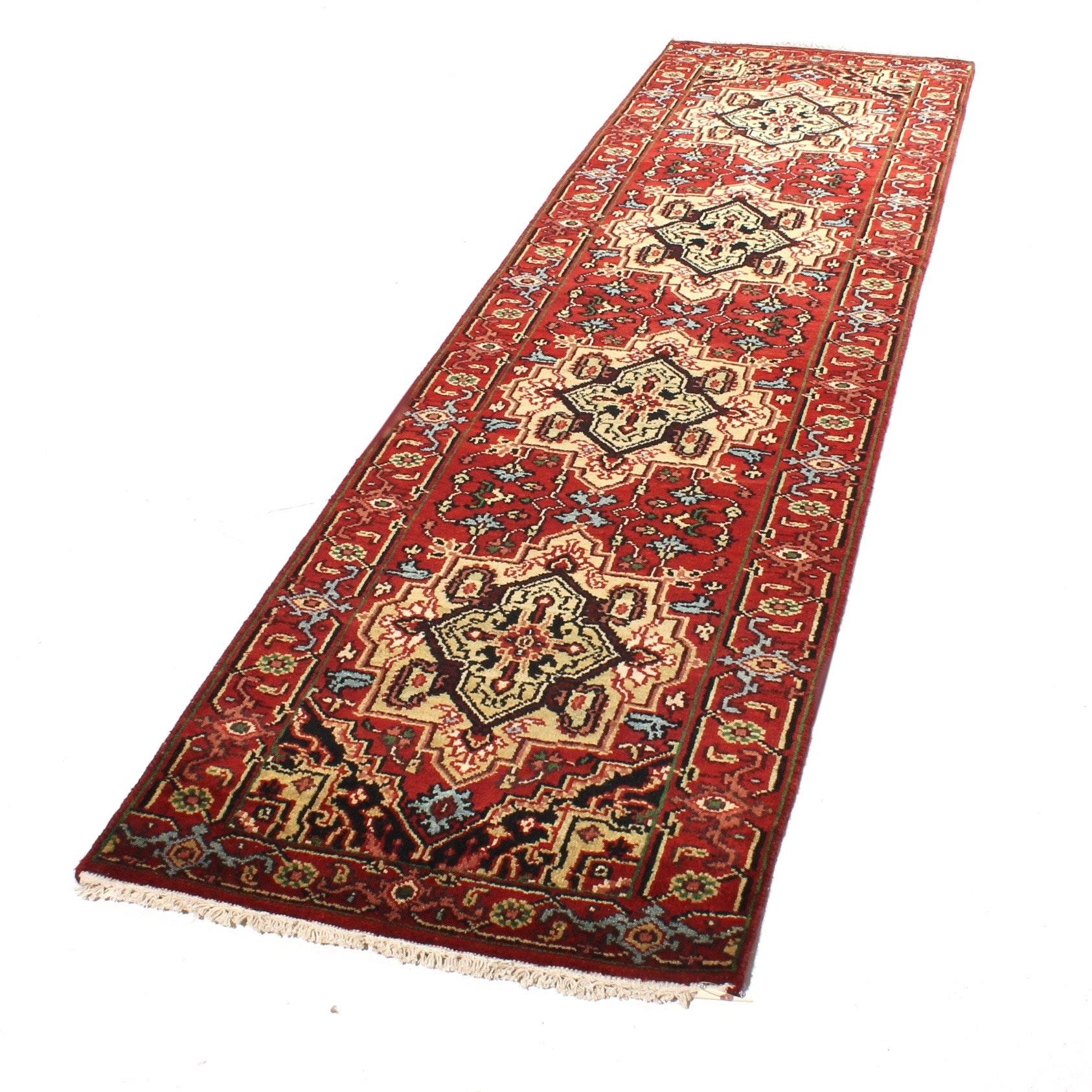 2'7 x 10'3 Hand-Knotted Persian Bakhshayesh Heriz Rug