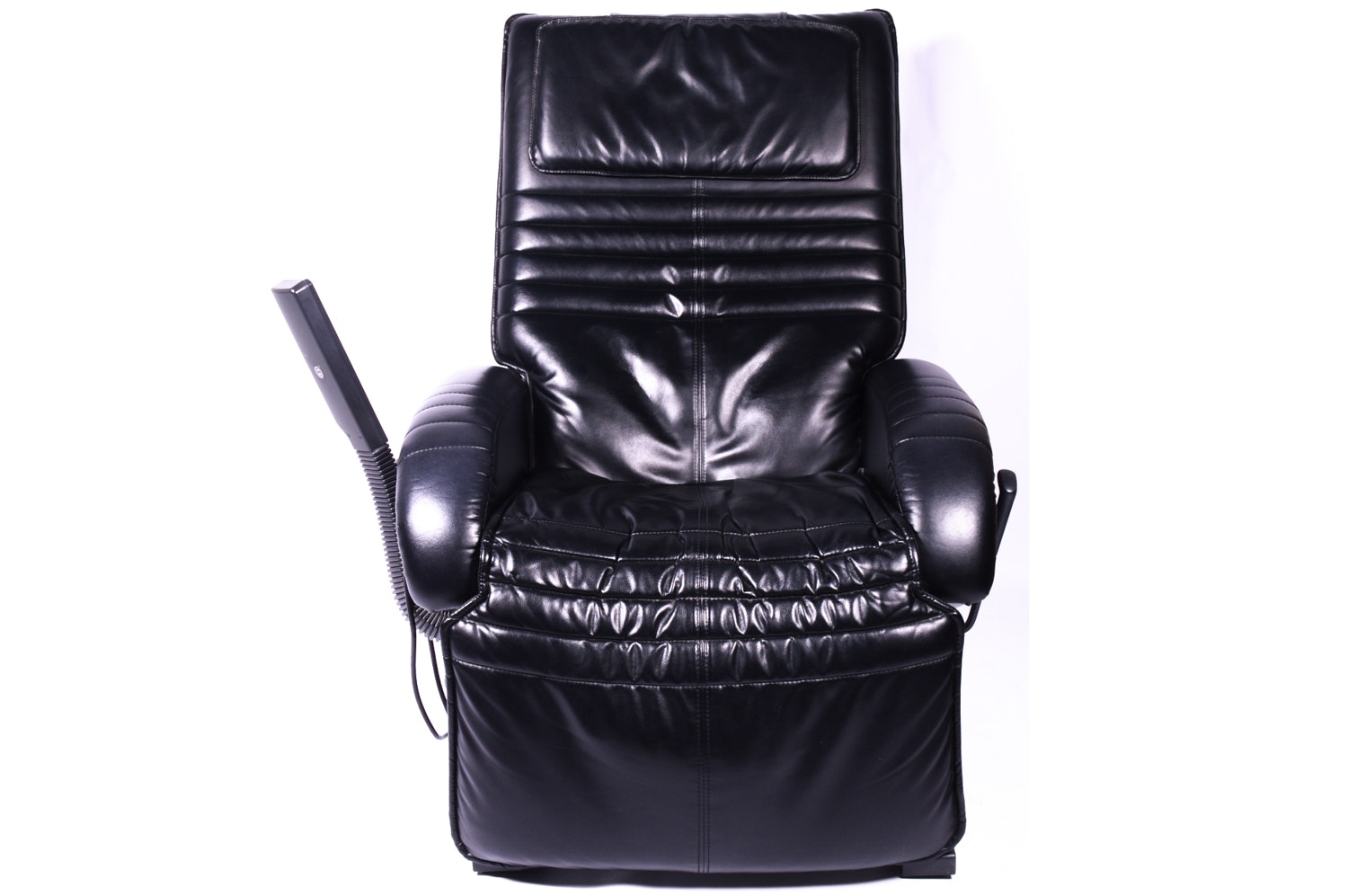 Black Leather HWE Massage Recliner with Radio and Cassette Player
