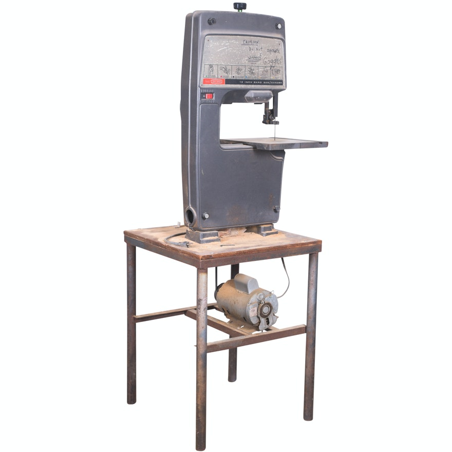 Brilliant Sears Craftsman 12 Band Saw Sander With Dayton Capacitor Motor And Bench Beatyapartments Chair Design Images Beatyapartmentscom