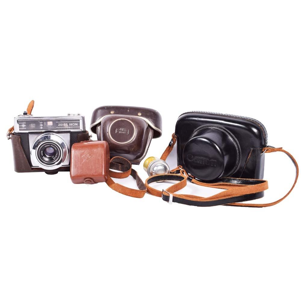 Vintage Canon, Canon Canonet, Zeiss Ikon Cameras