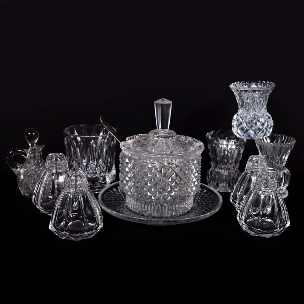 Vintage Crystal and Glass Tableware