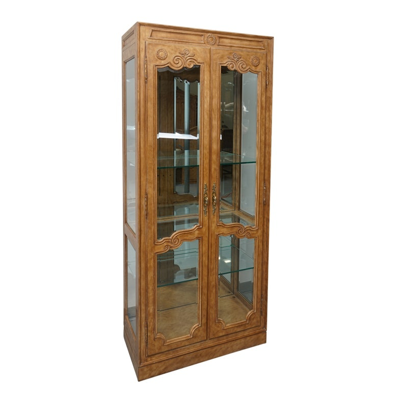 """Old Continent"" Illuminated Display Cabinet by Drexel-Heritage"