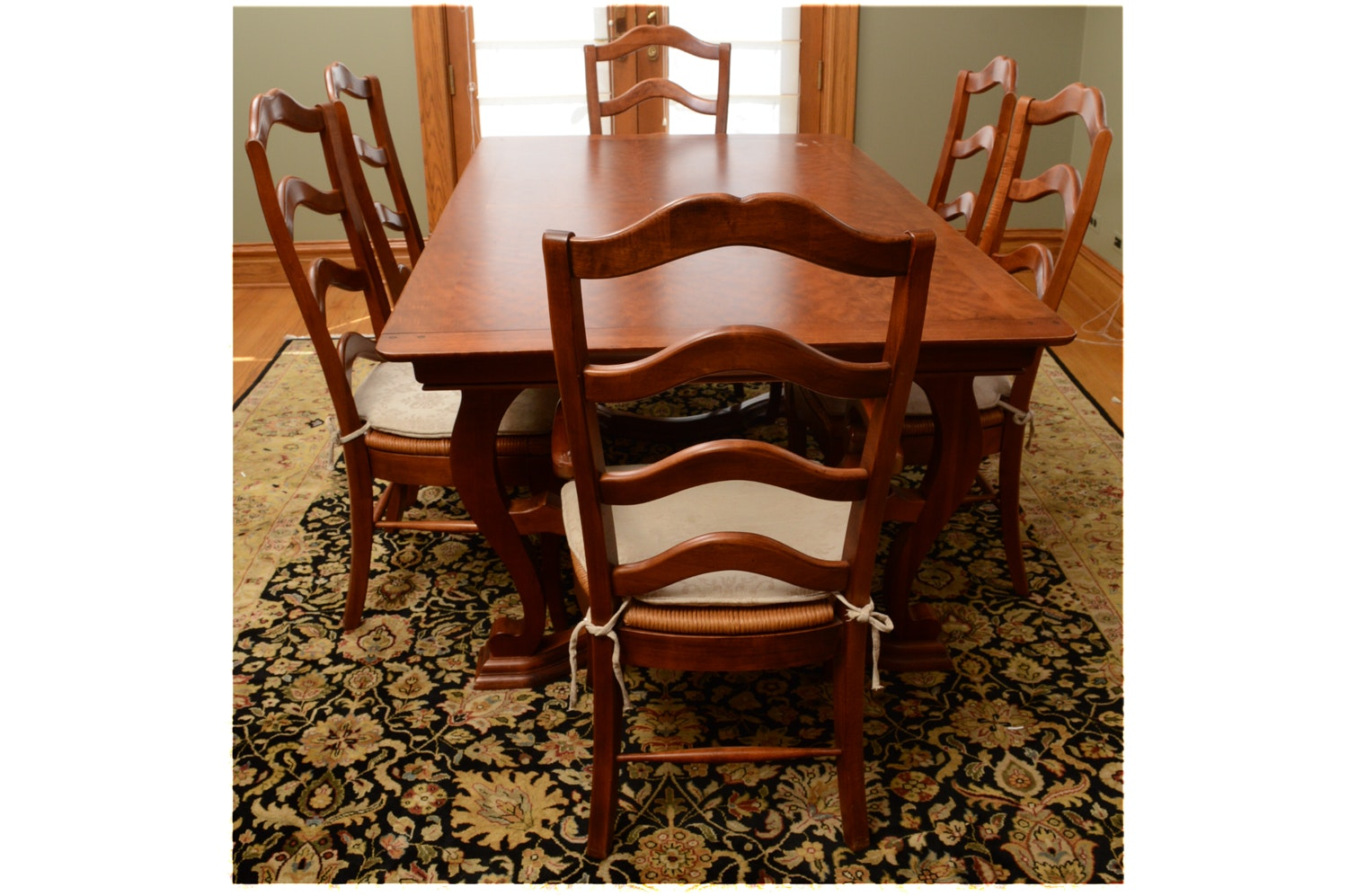 Contemporary Dining Table with Dining Chairs