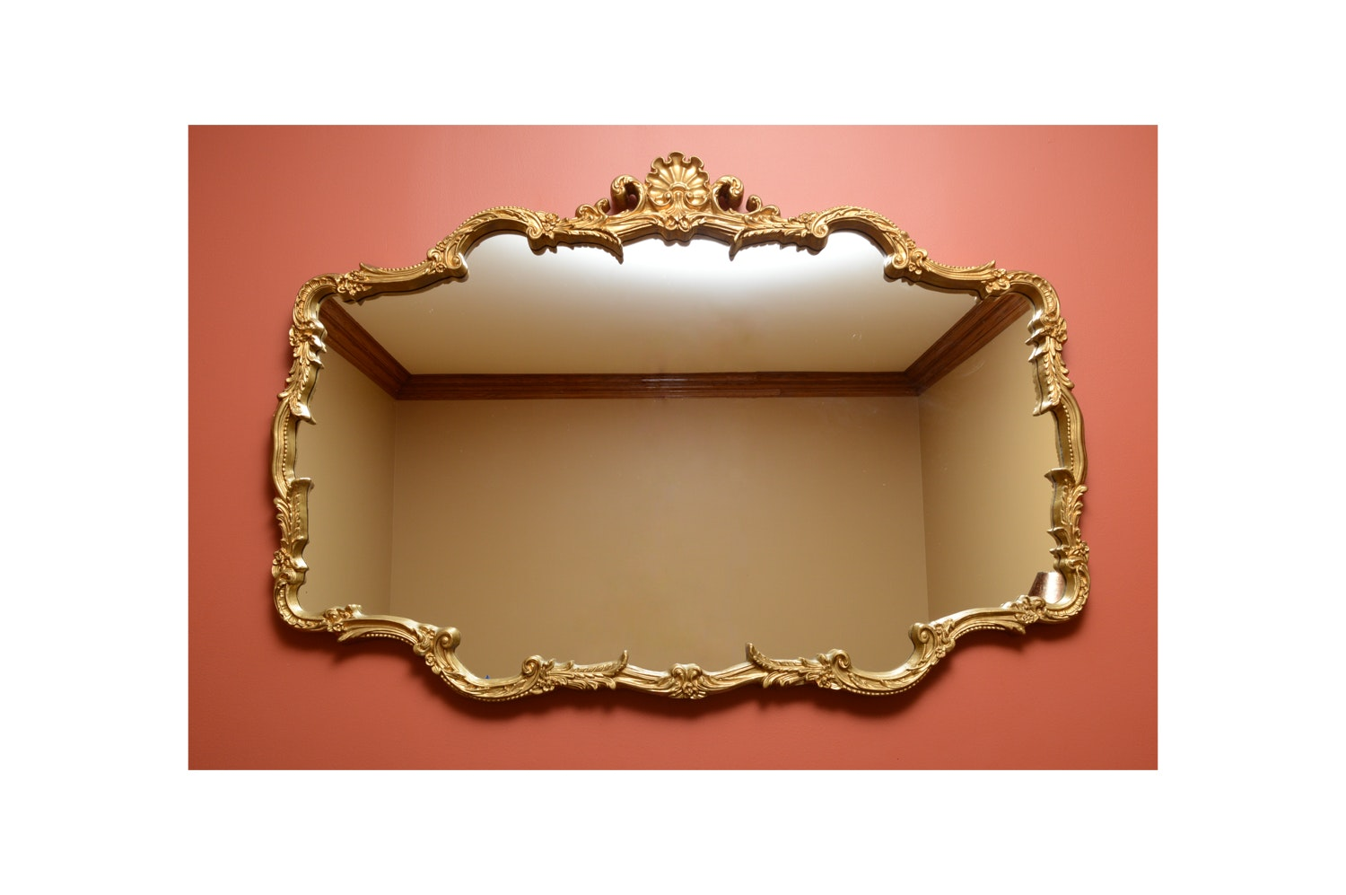 Italianate Gilt Wall Mirror with Rocaille Embellishment