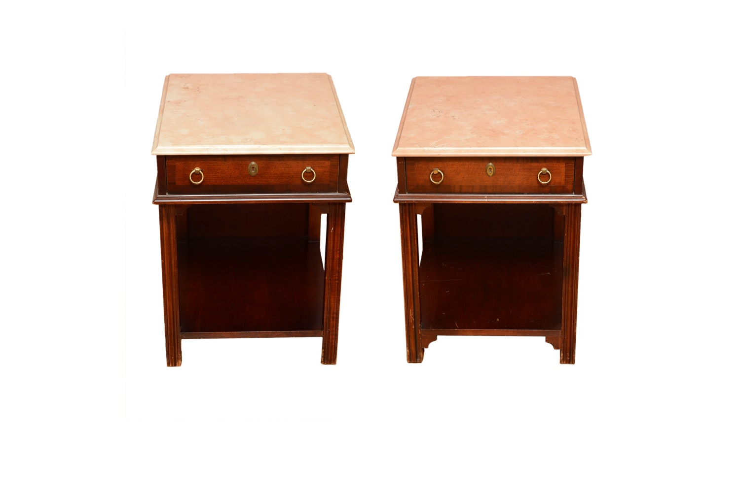 Vintage Mahogany Side Tables By Fleetwood Fine Furniture ...