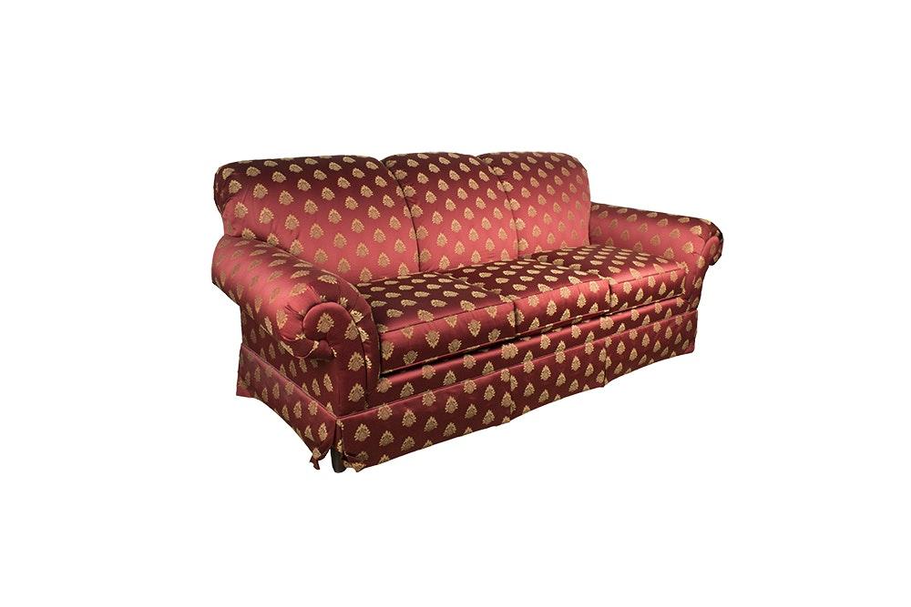 Red Upholstered Sofa by Bassett
